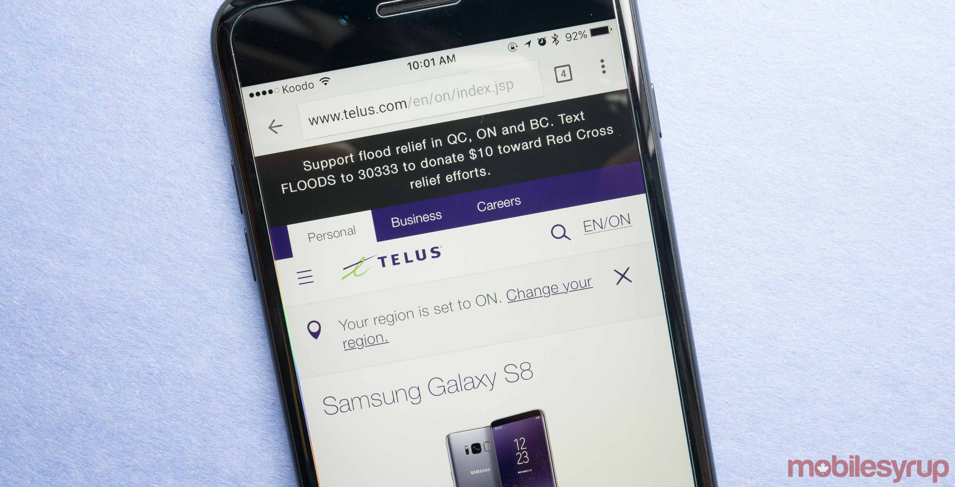 Can you hook up a koodo phone with telus