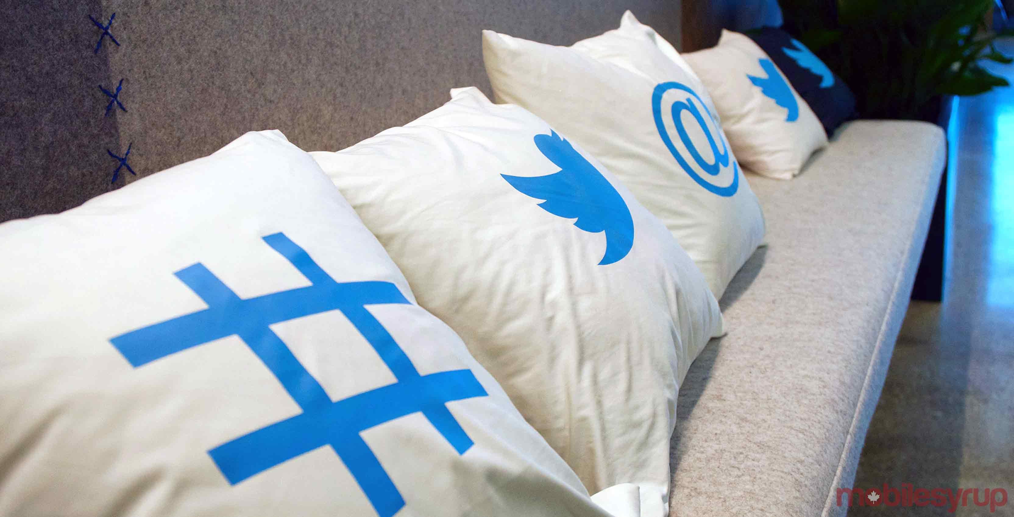 Twitter Canada office pillows