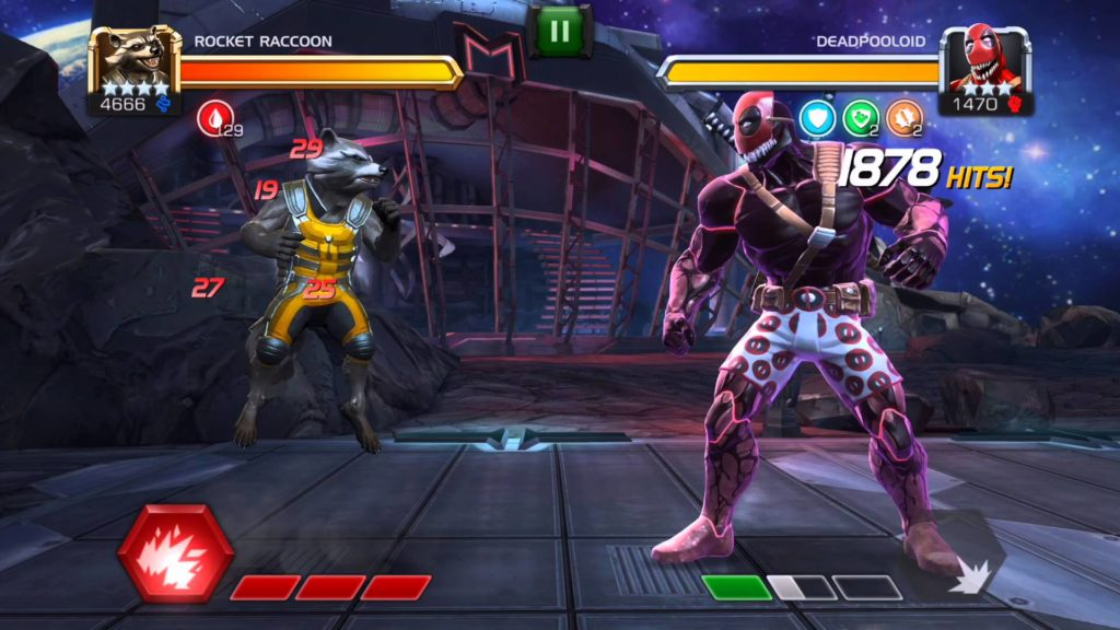 Rocket Raccoon vs Deadpooloid Marvel Contest of Champions