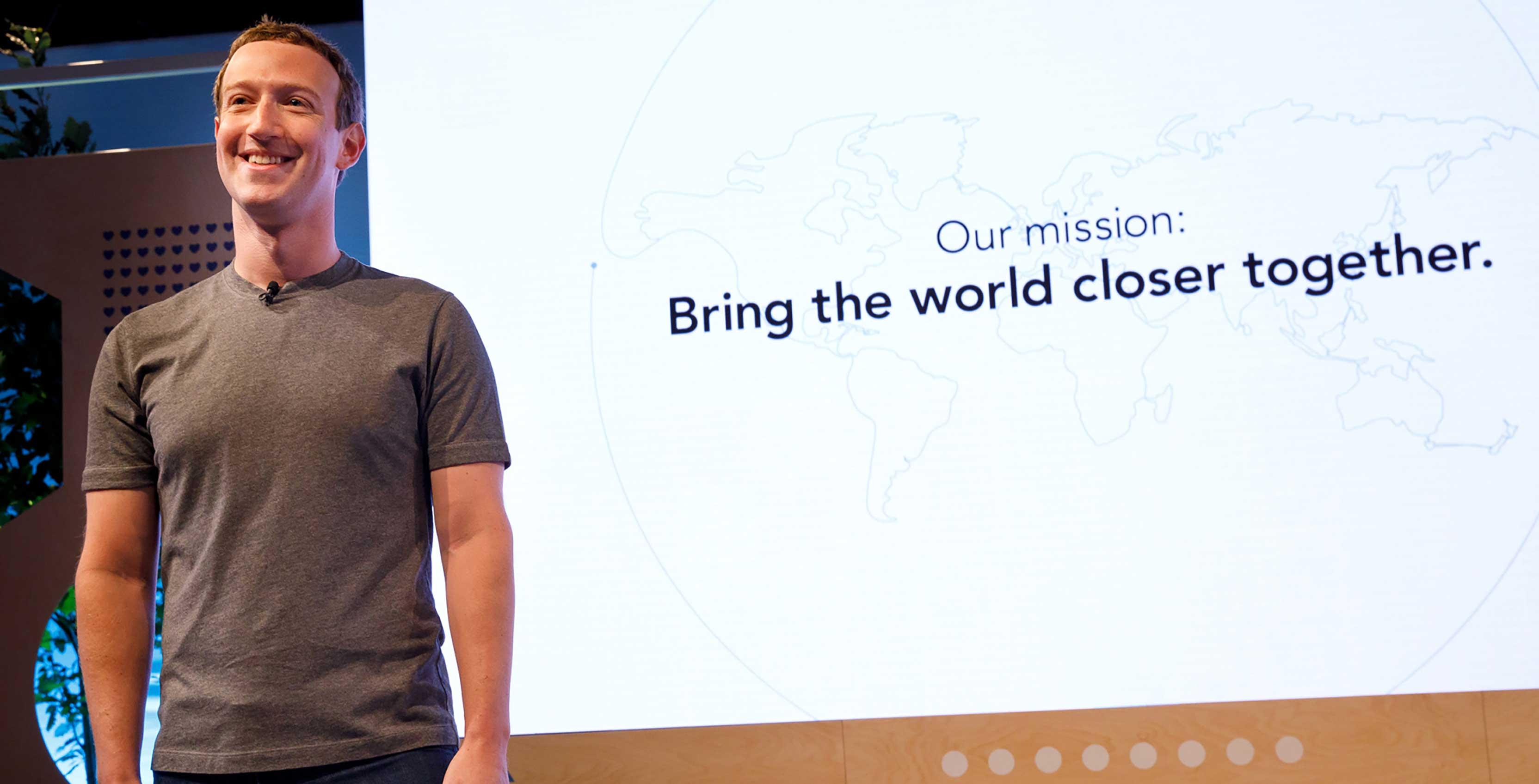 Facebook Mark Zuckerberg presentation