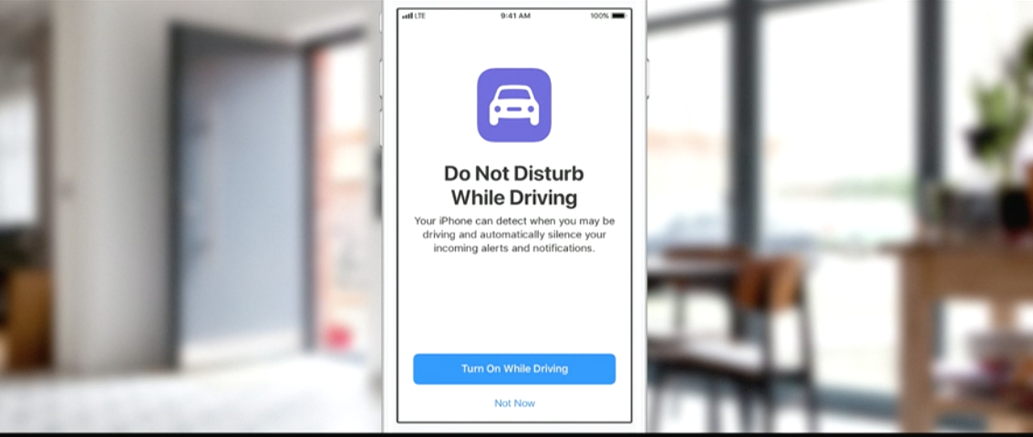 Do not disturb while driving notification