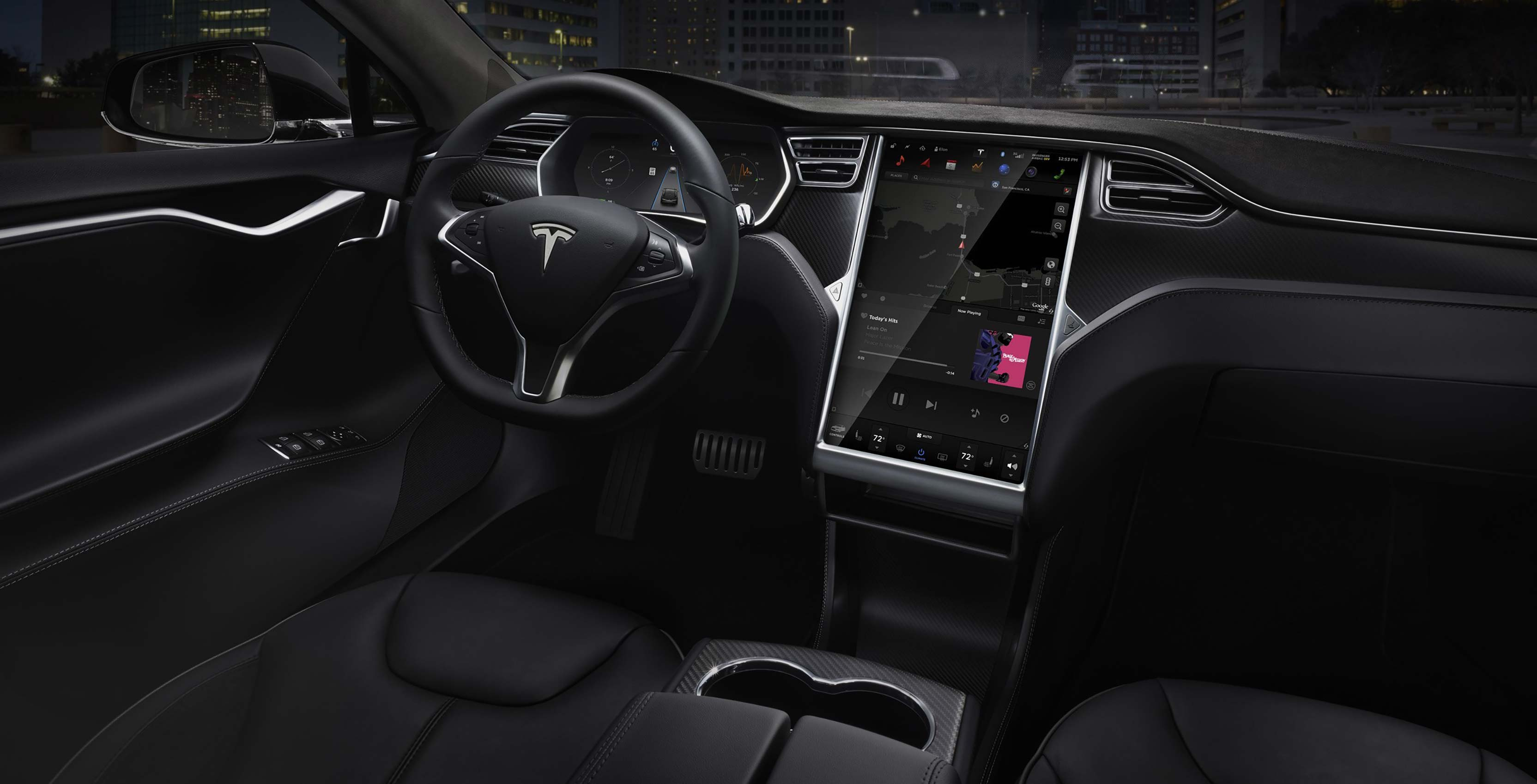 Tesla Model 3 in-car