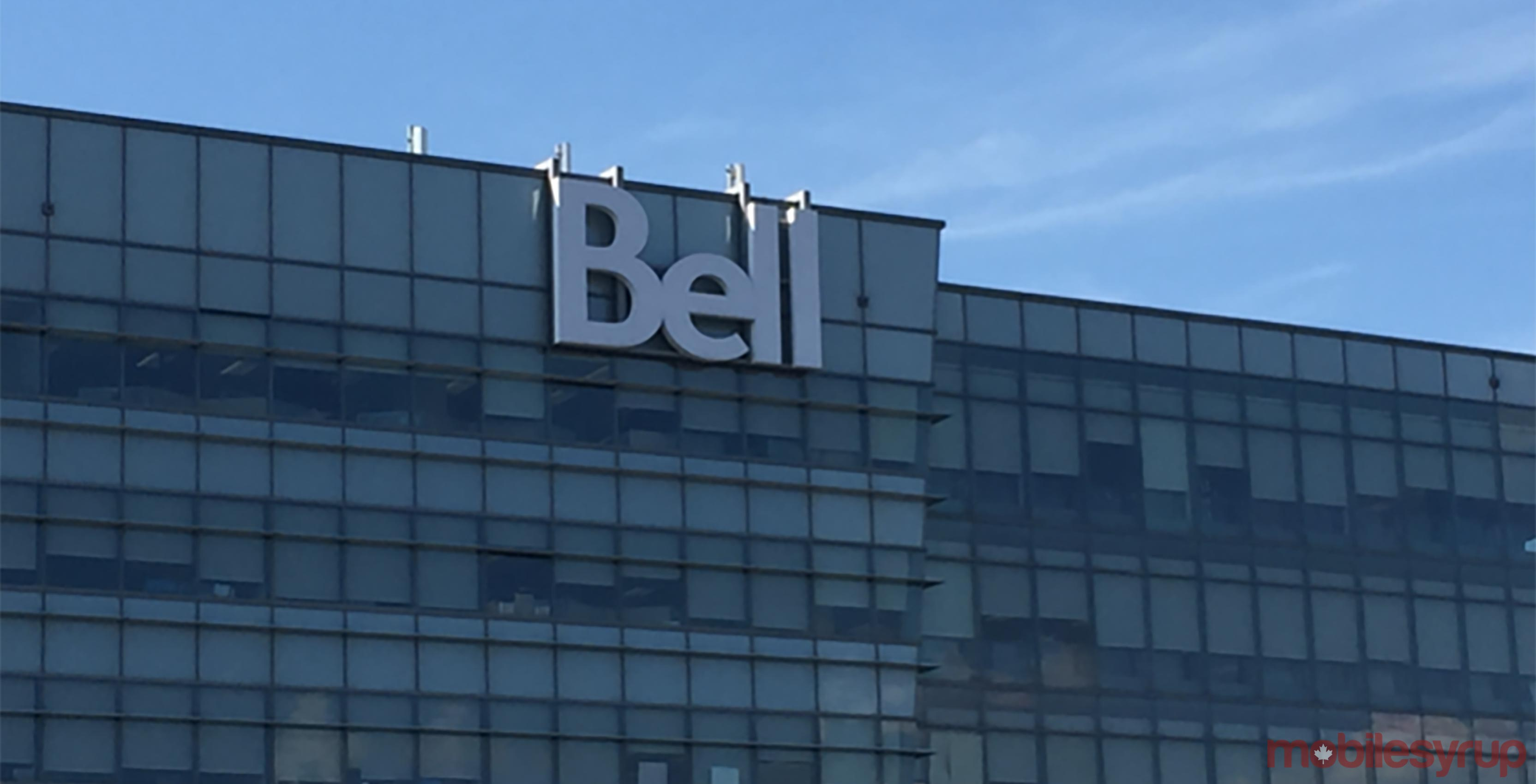 An image showing the Bell logo atop a corporate office