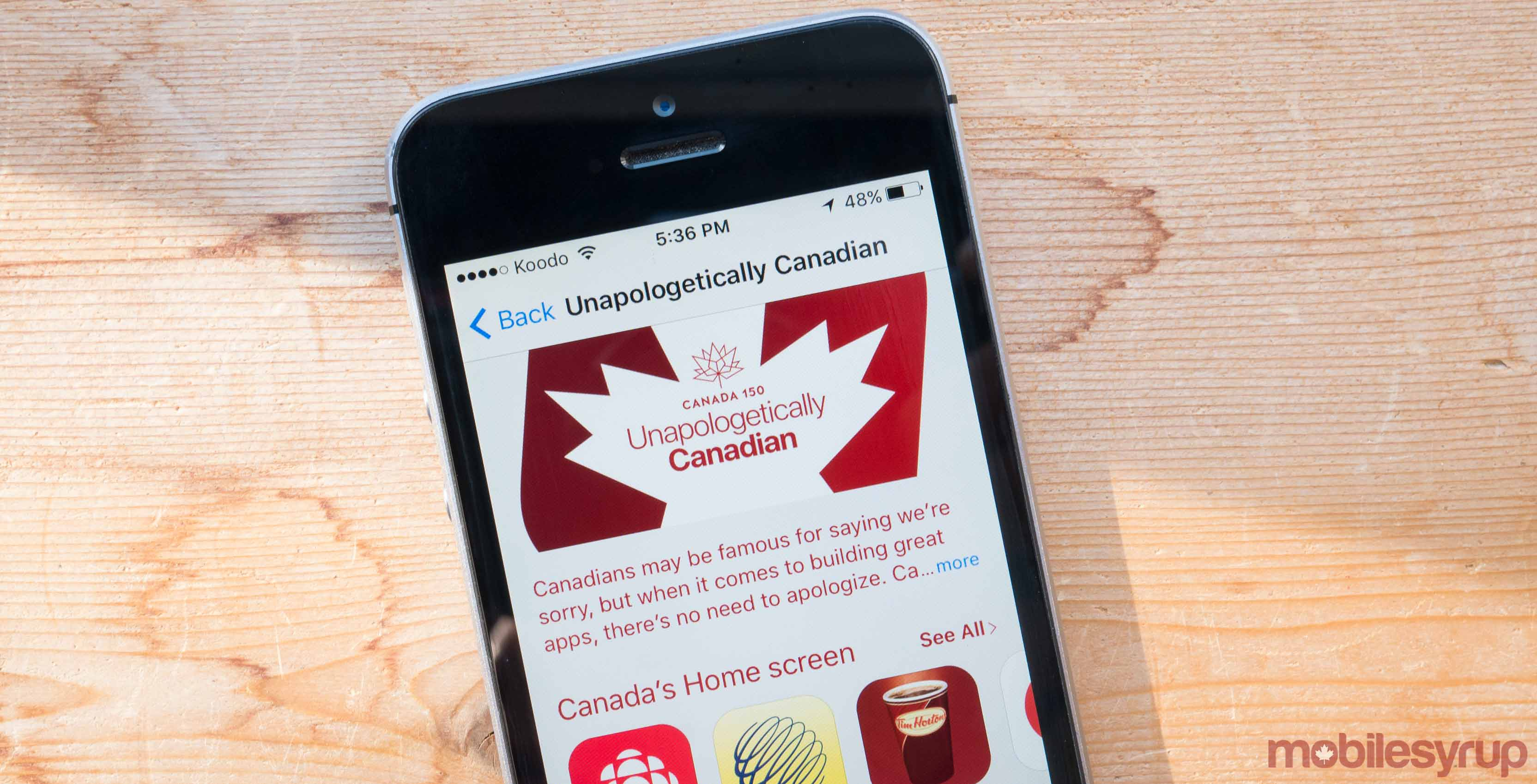 Apple App Store Unapologetically Canadian