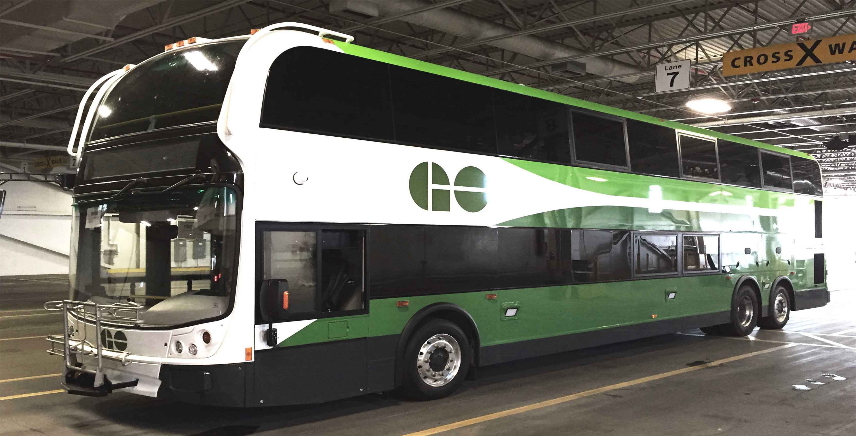 An image of a GO Transit bus