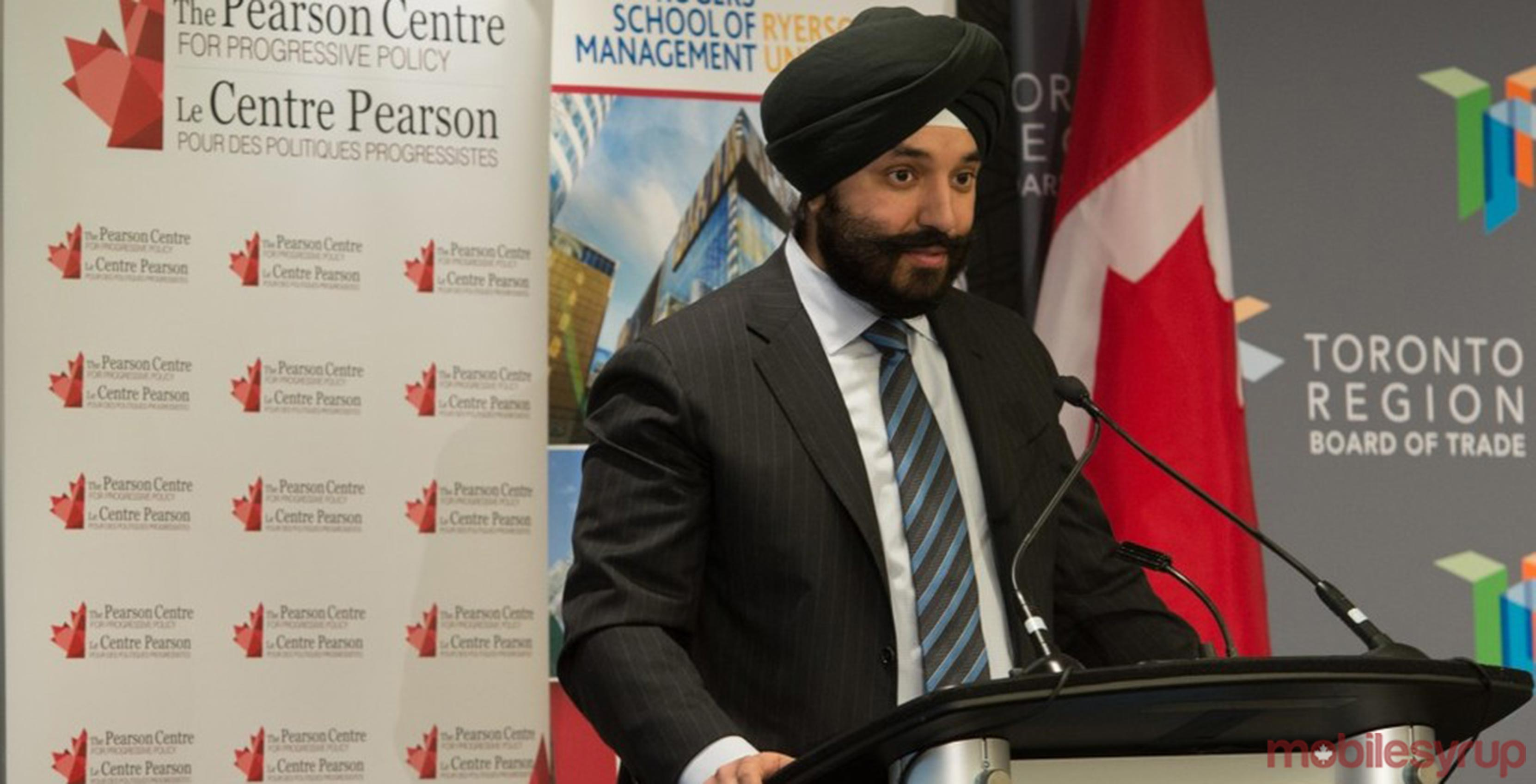 Navdeep Bains, Minister of Innovation, Science and Economic Development