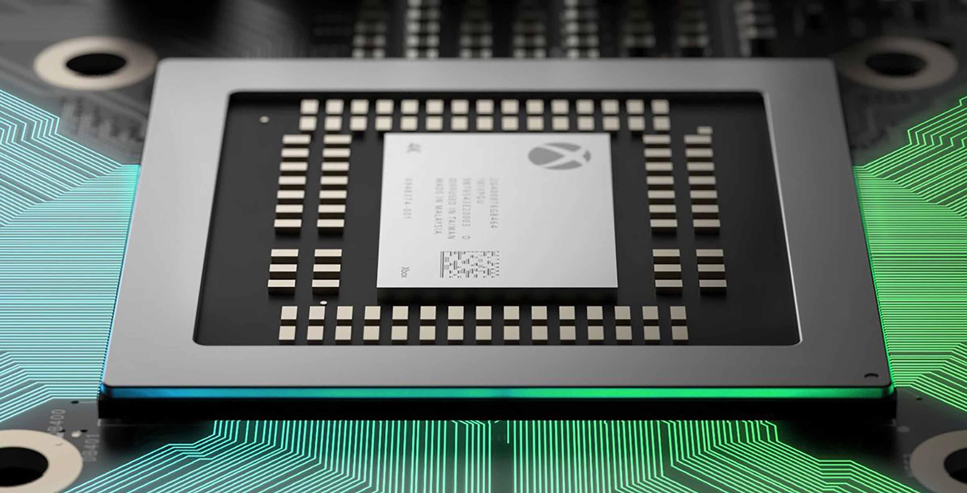 Project Scorpio chip with Xbox logo