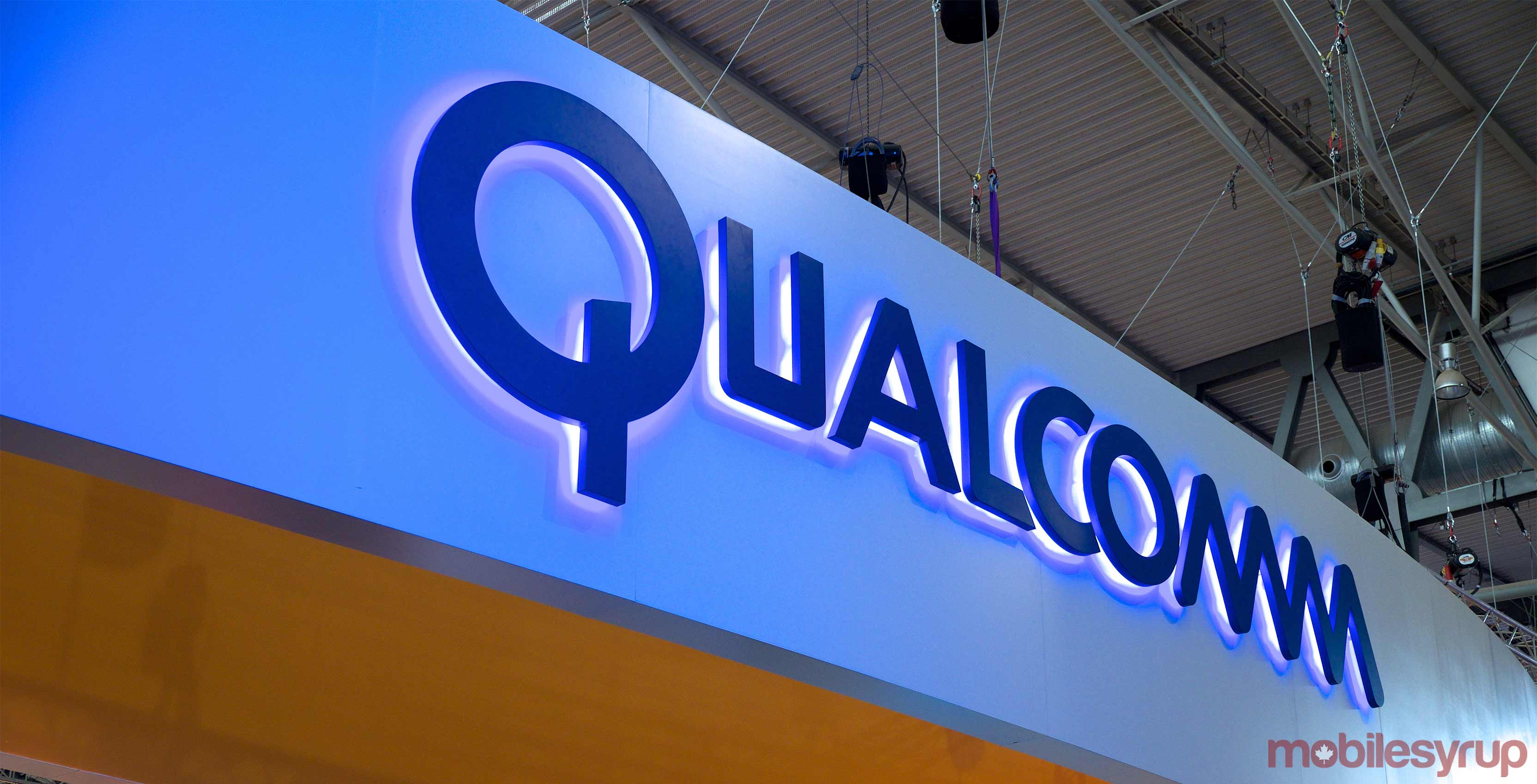 An image showcasing the Qualcomm logo