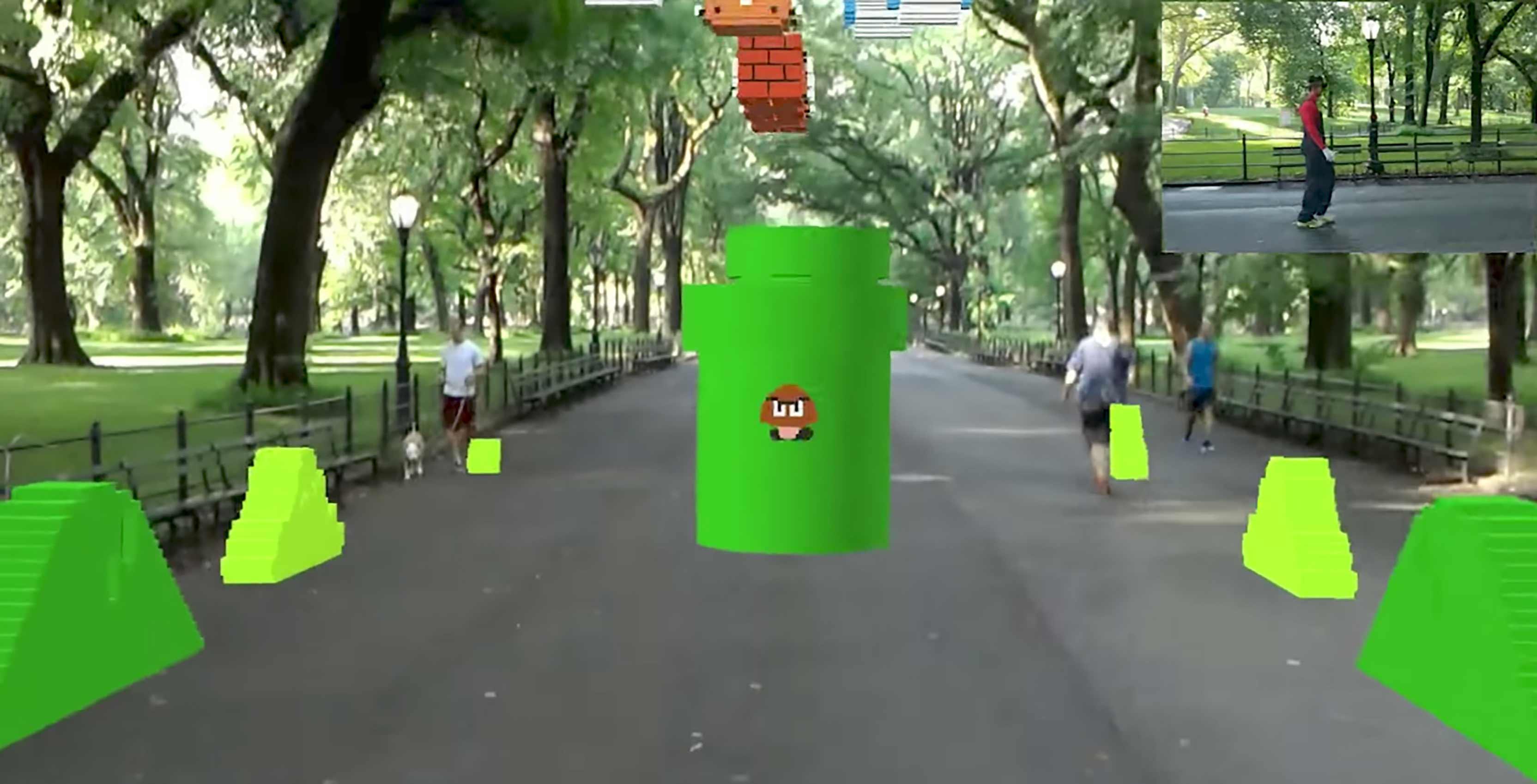 Super Mario AR in park