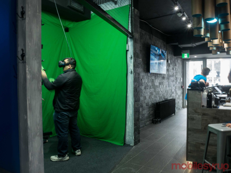 VR Playin green screen