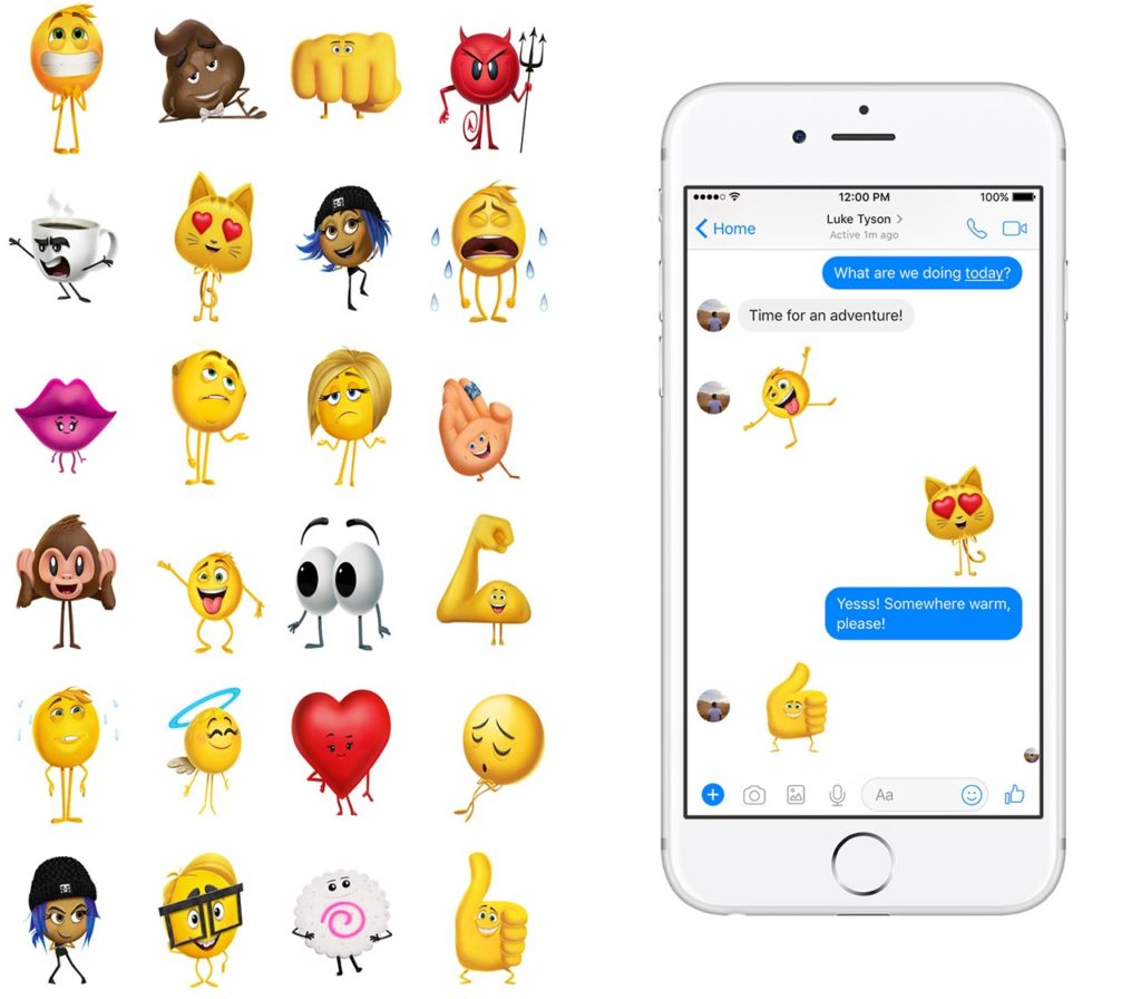 Emoji Movie Facebook stickers