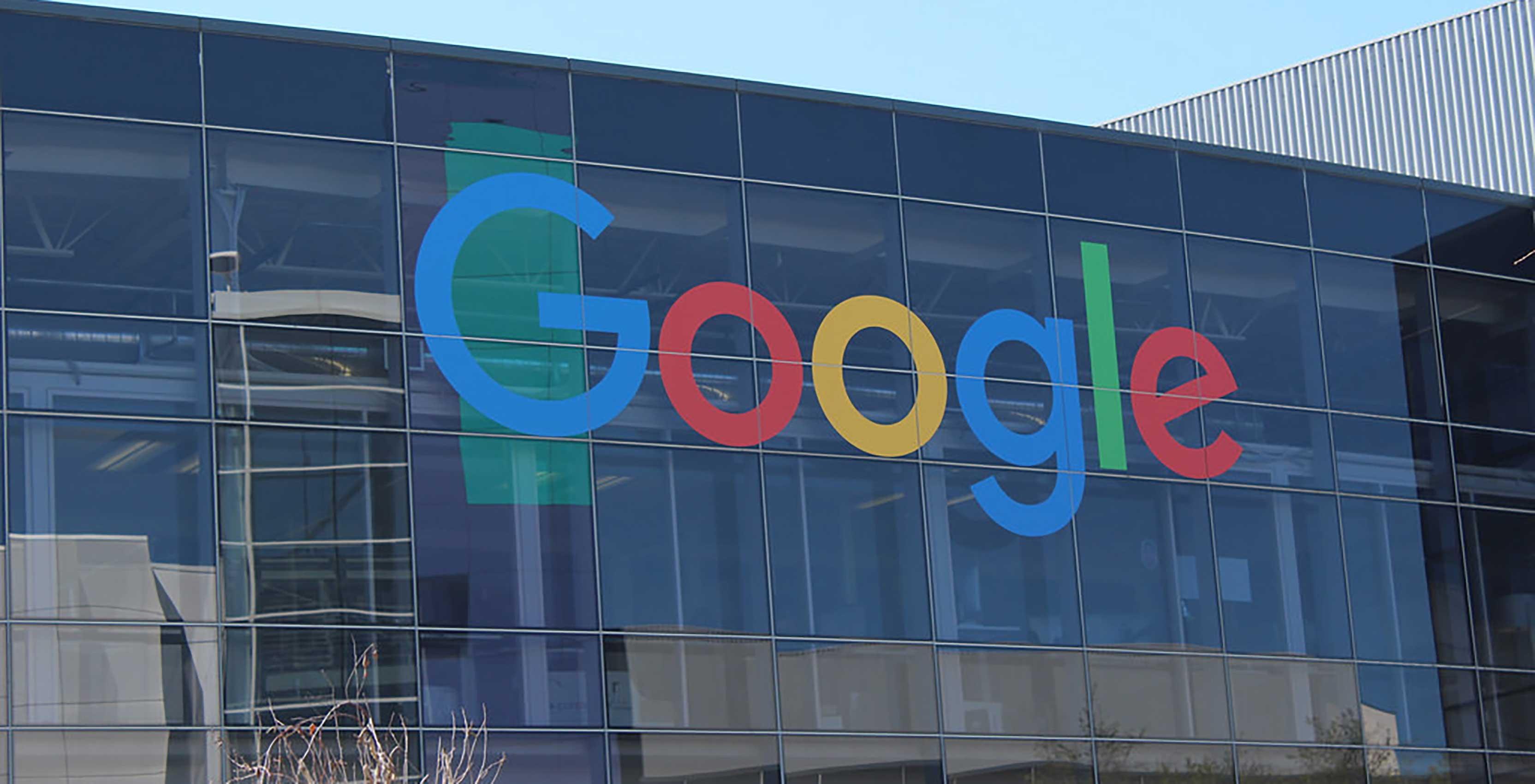 Google logo on headquarters