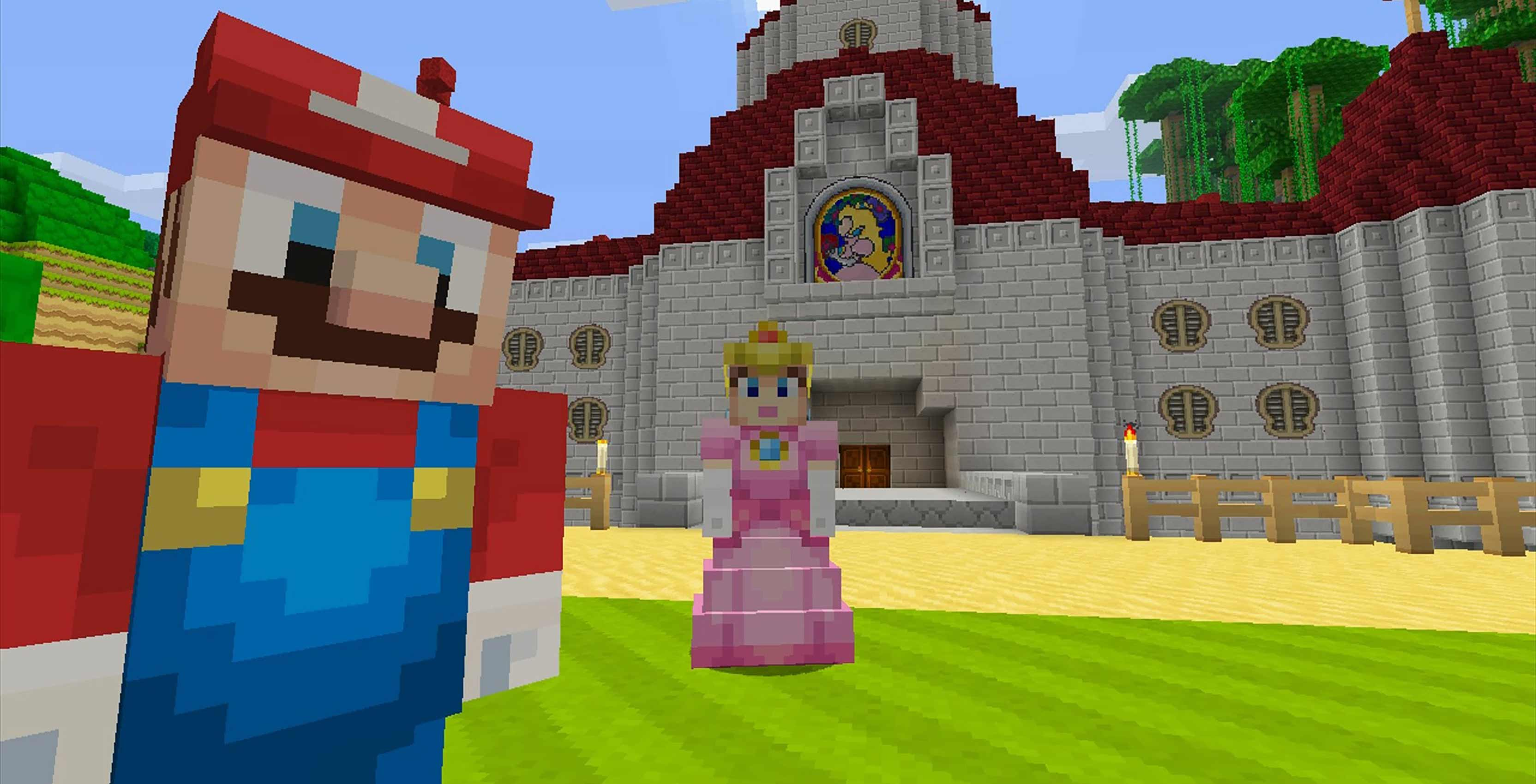 Minecraft Nintendo Switch Mario