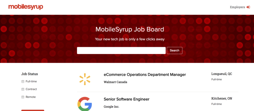 MobileSyrup Job Board is now live! Let us help you find ...