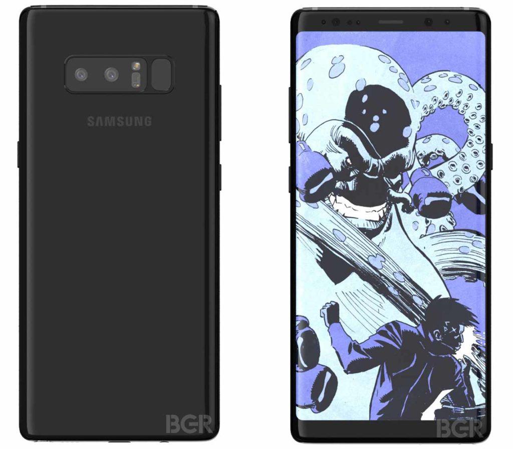 Samsung Note 8 renders