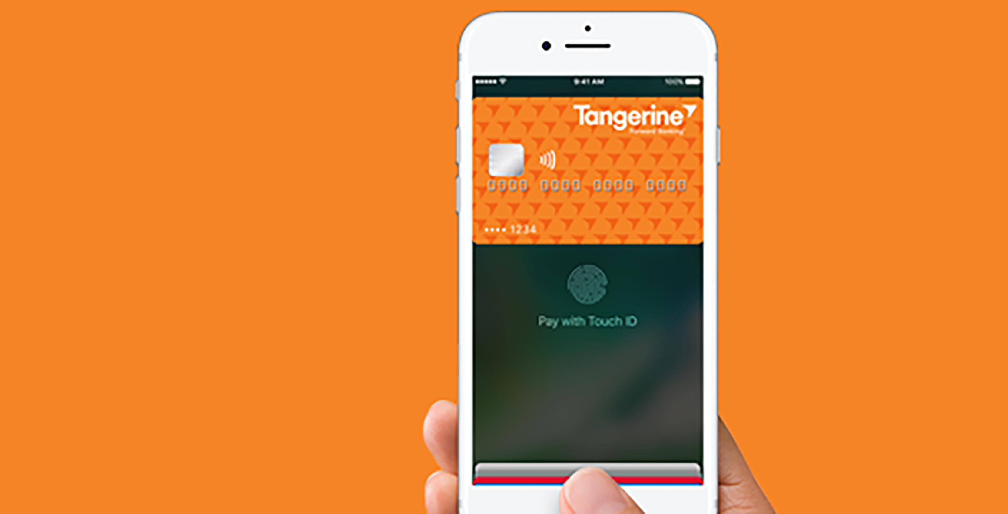 Tangerine Apple Pay on iPhone