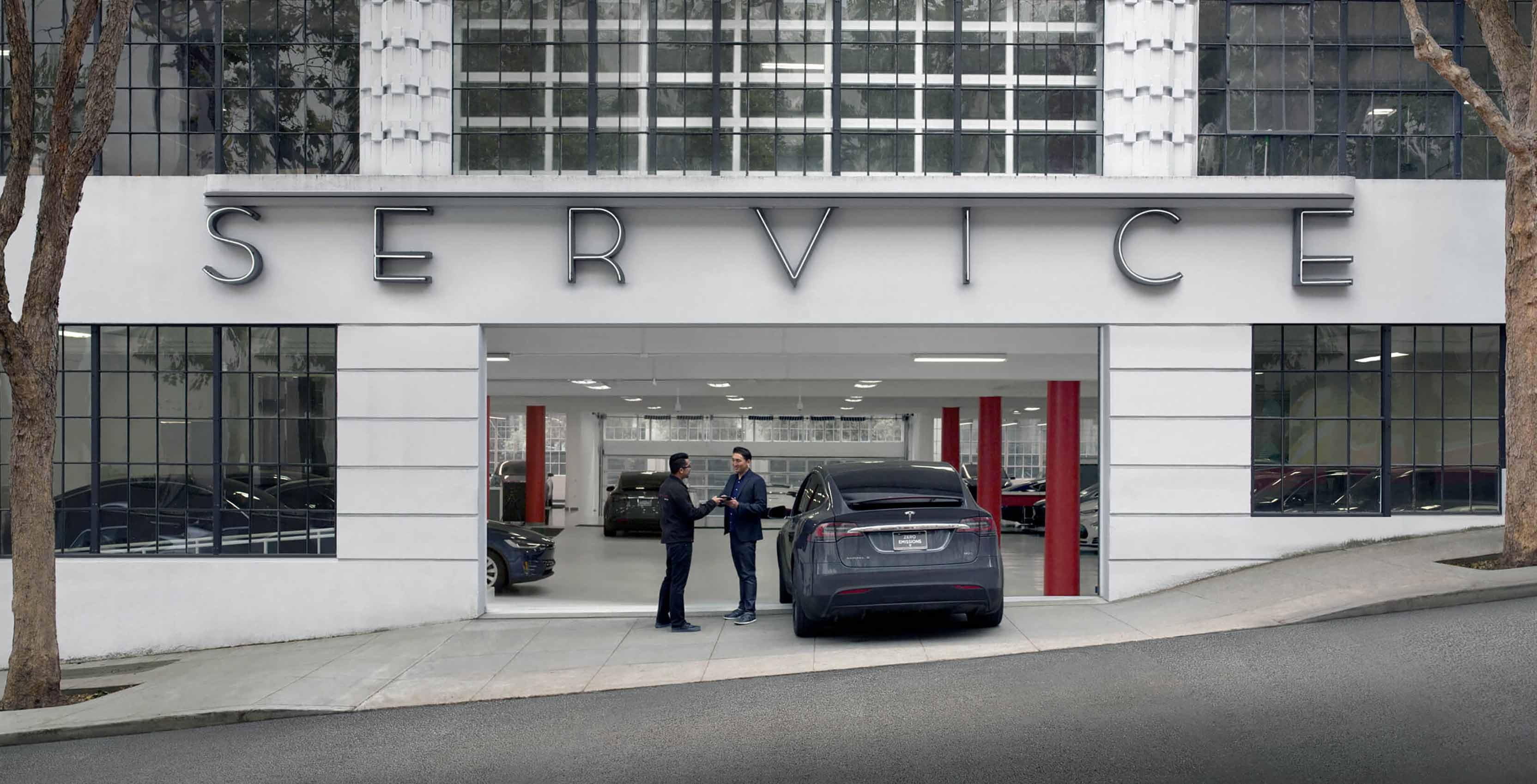 Tesla service centre