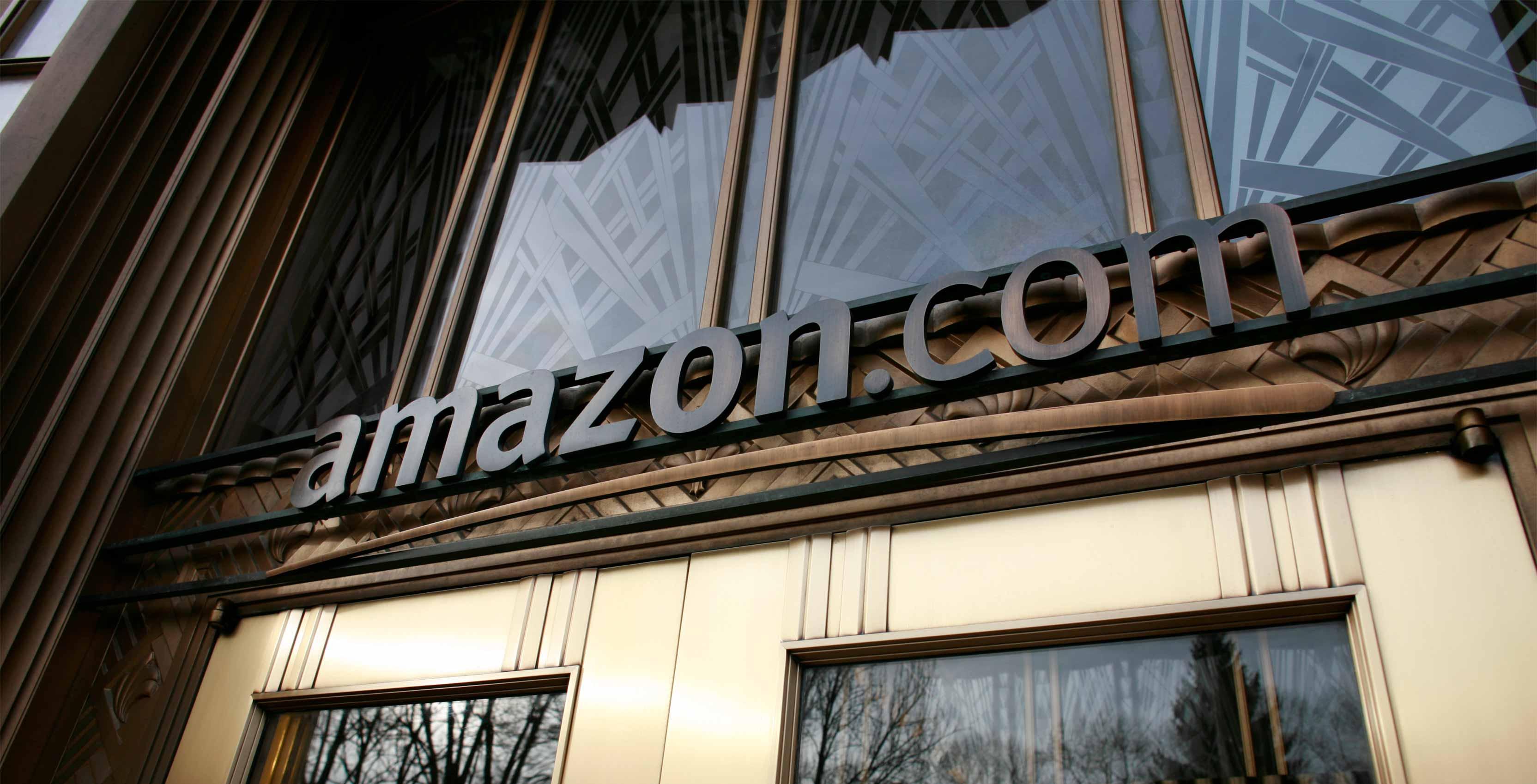 Amazon.com logo on building