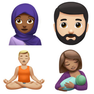 Apple new emoji woman with headscarf