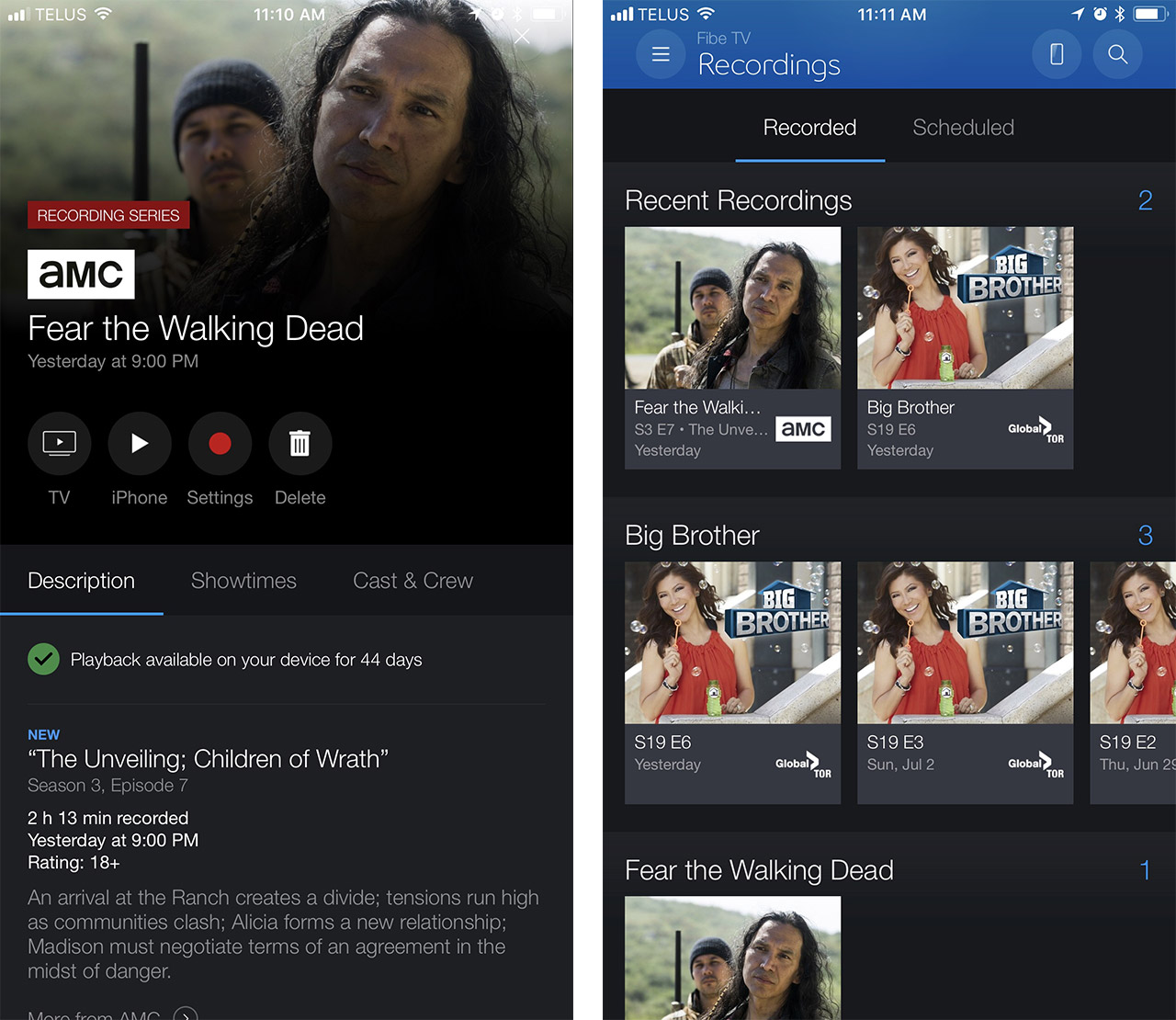 Bell Fibe TV iOS and Apple TV app can now play DVR recordings