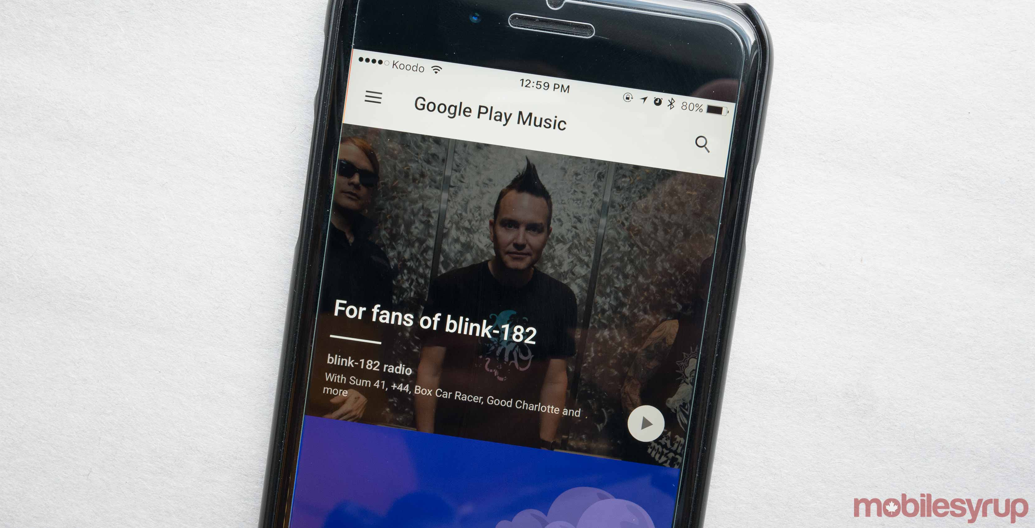 Google Play Music on phone