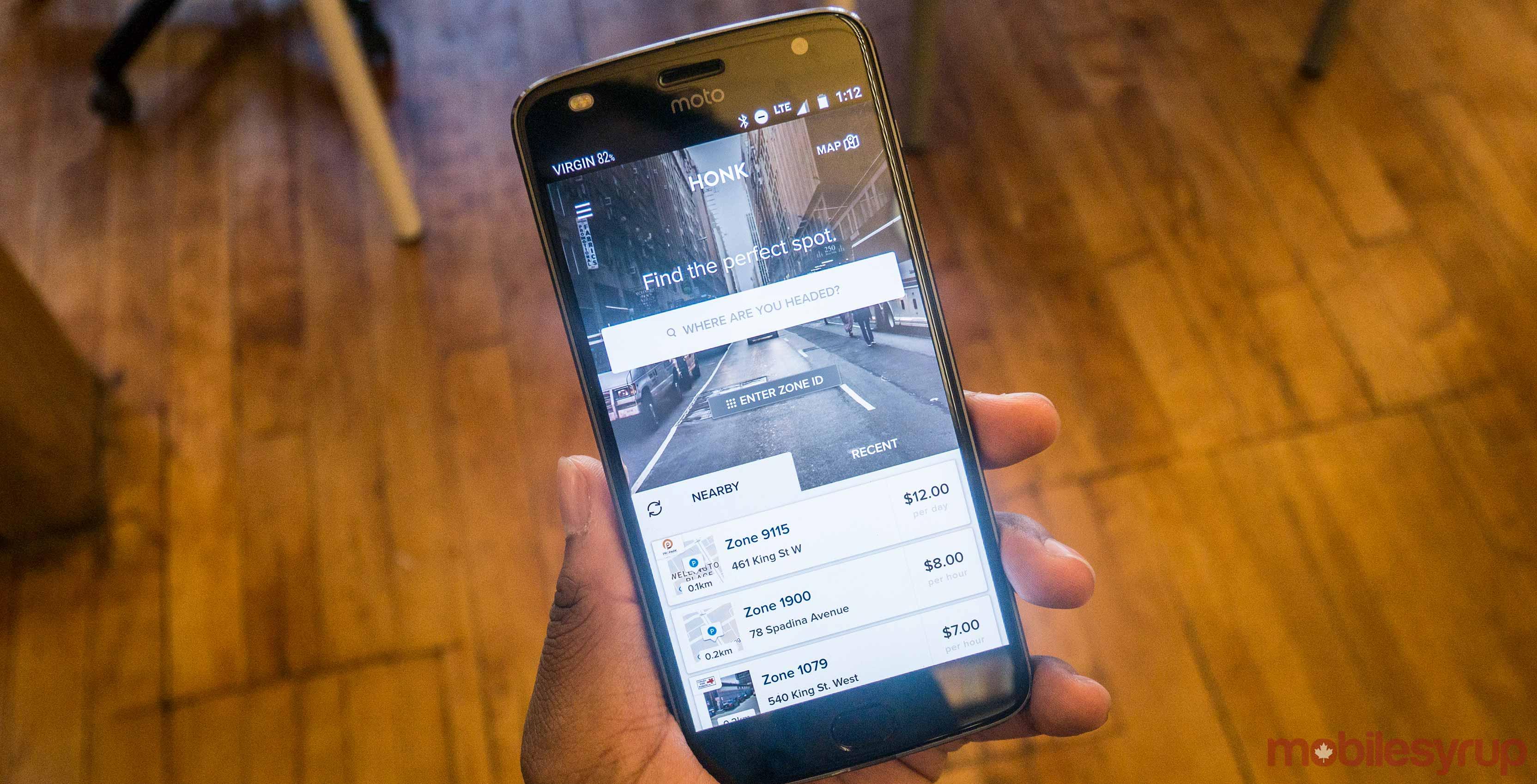 Honk Mobile on Moto Z2 Play
