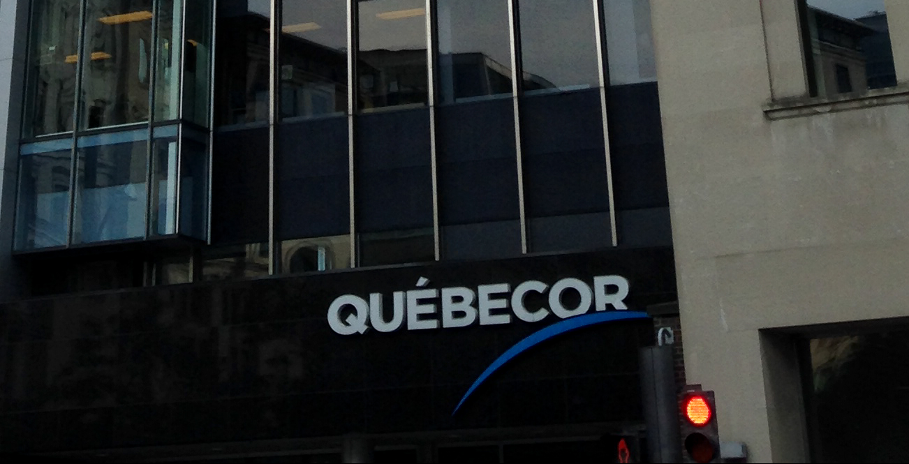 quebecor sign