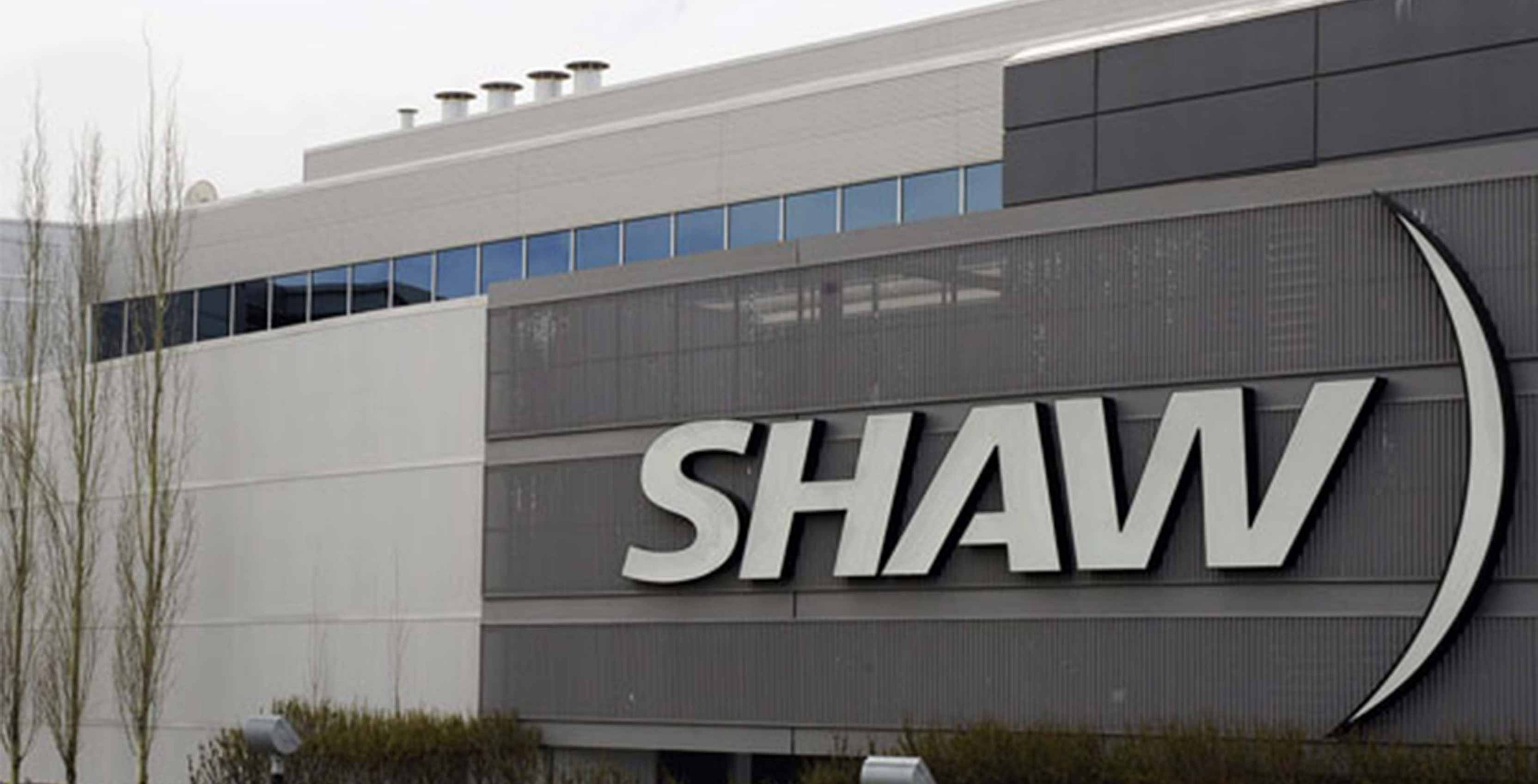 Shaw logo on building