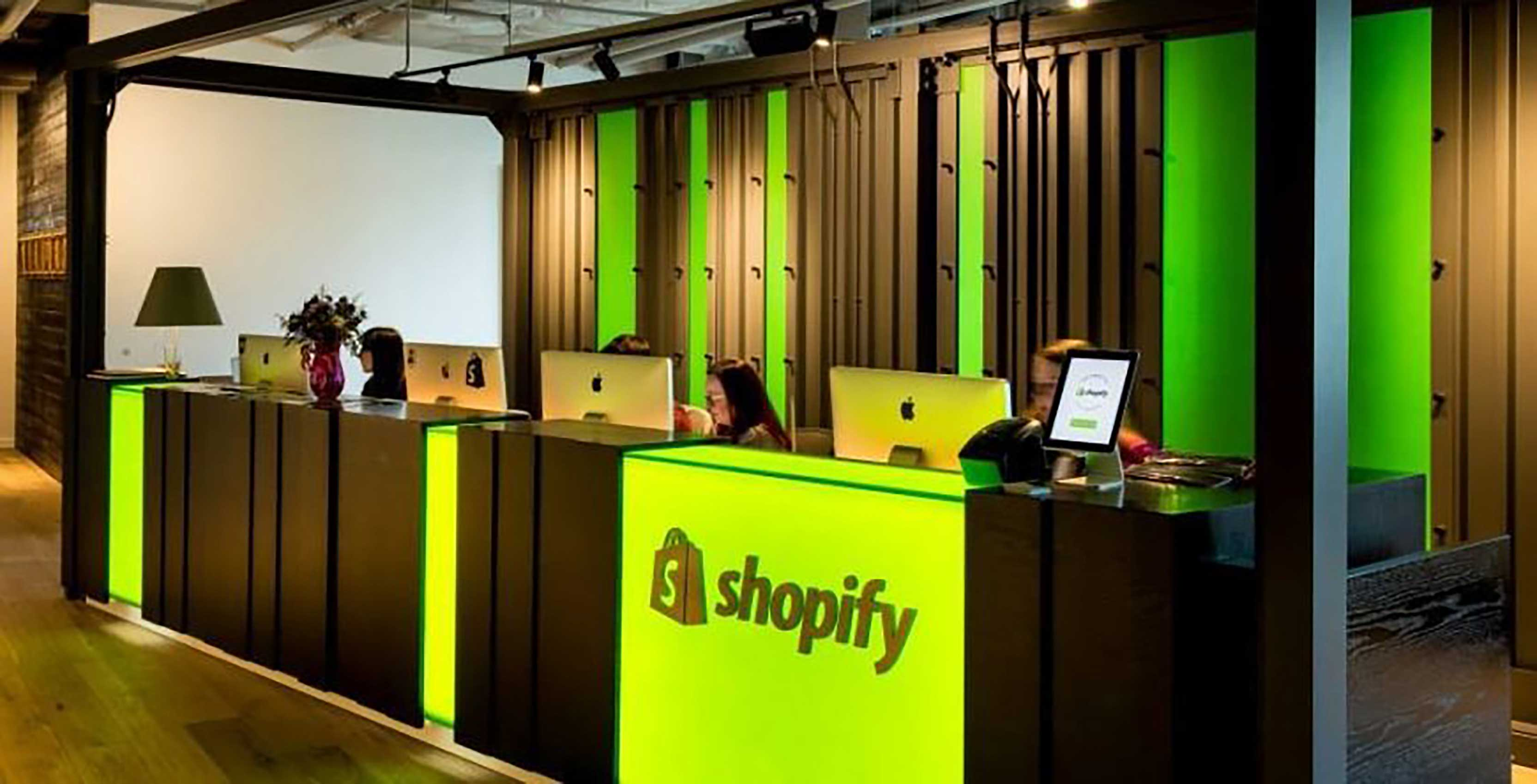 Shopify desk in office