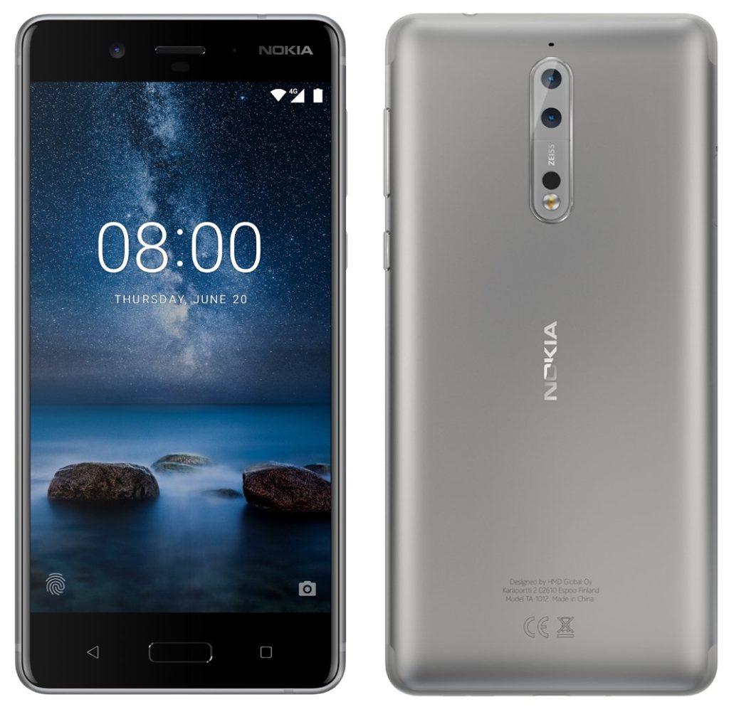 silver Nokia 8