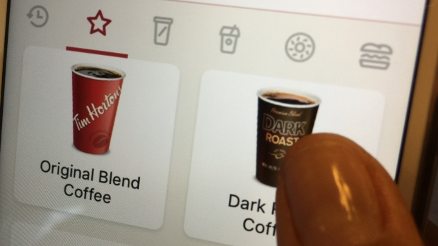 Tim Hortons mobile app image from CBC