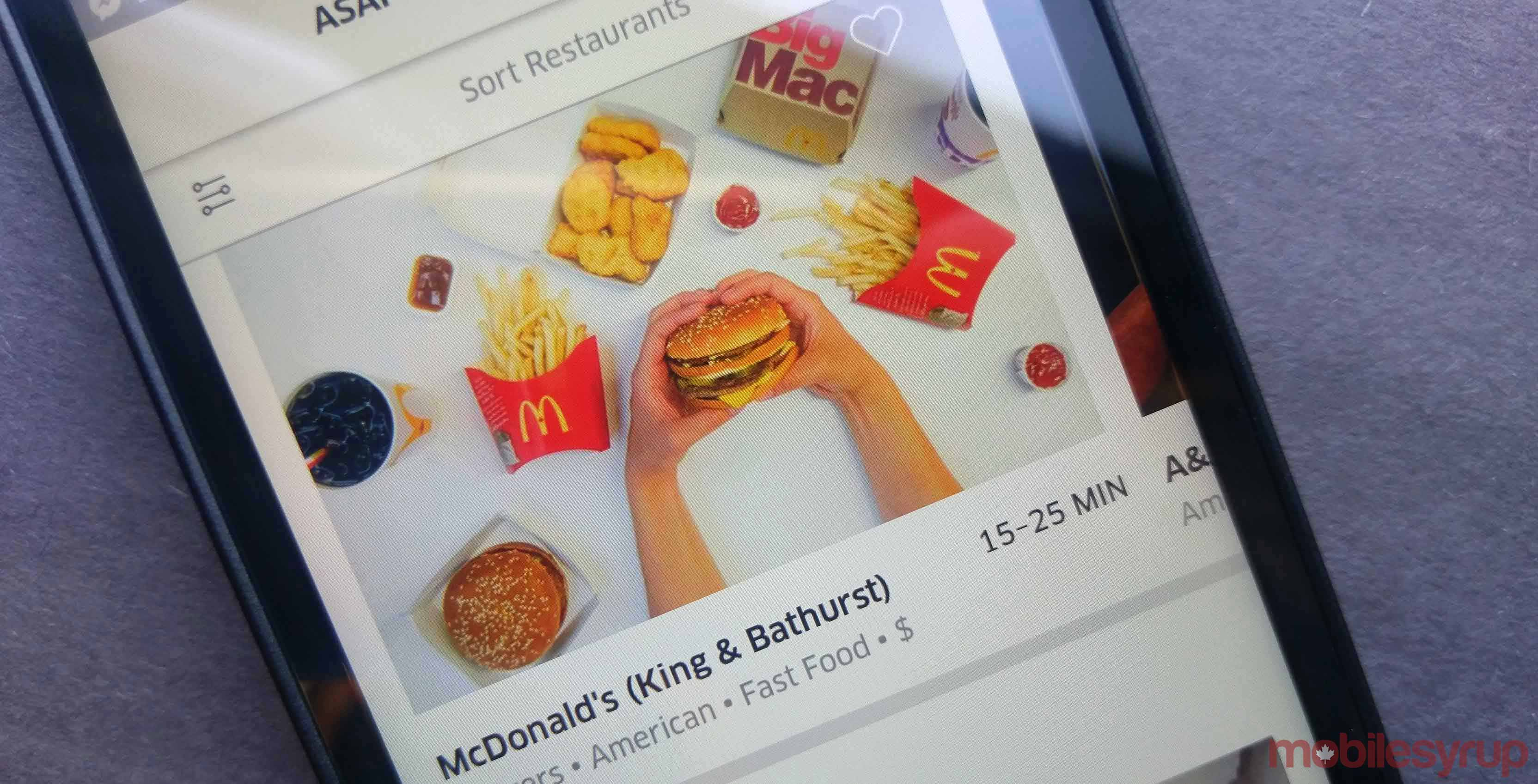 ubereats mcdelivery