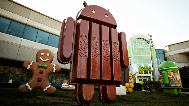 Android KitKat statue in Mountain View