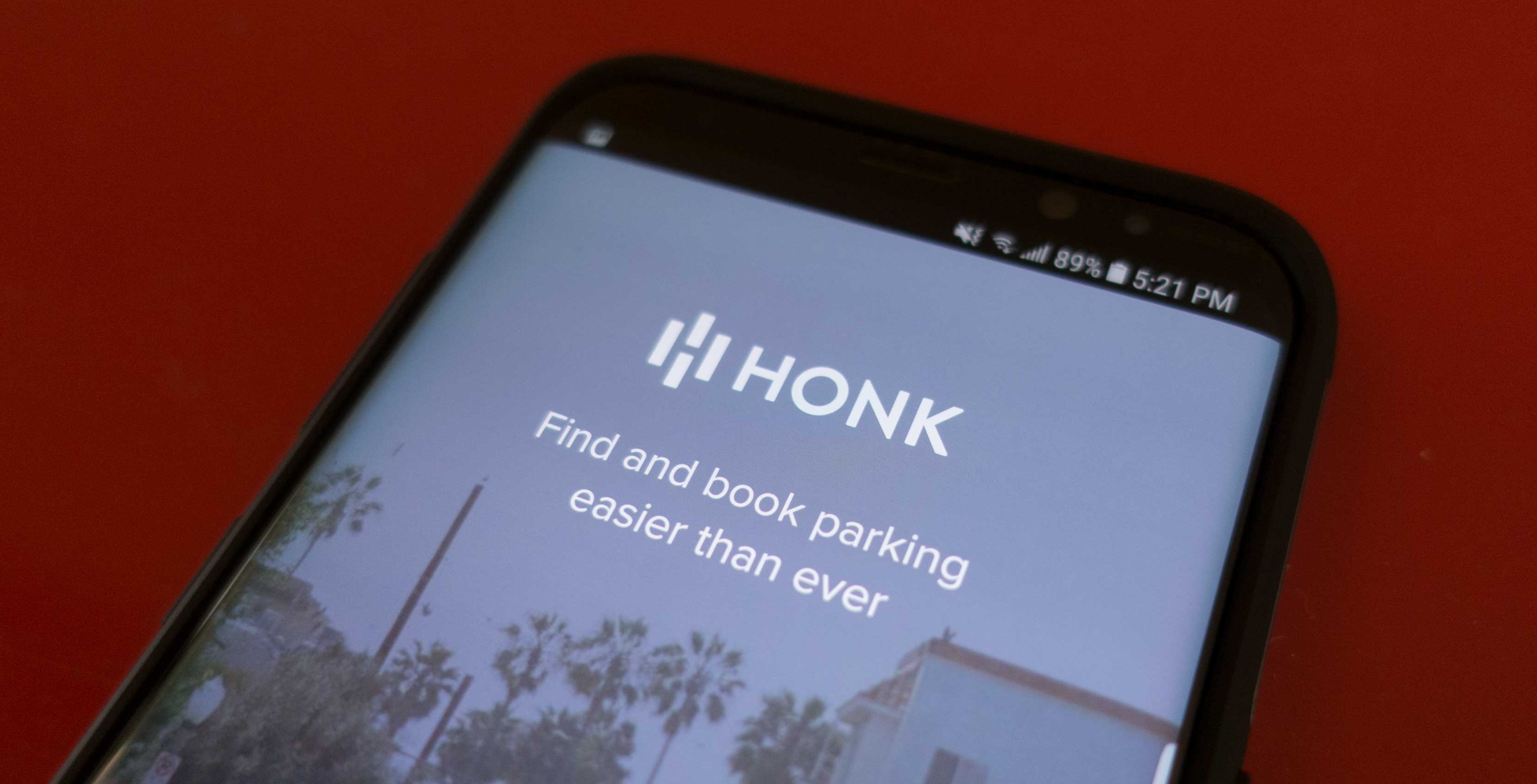 An image showing the HonkMobile main page