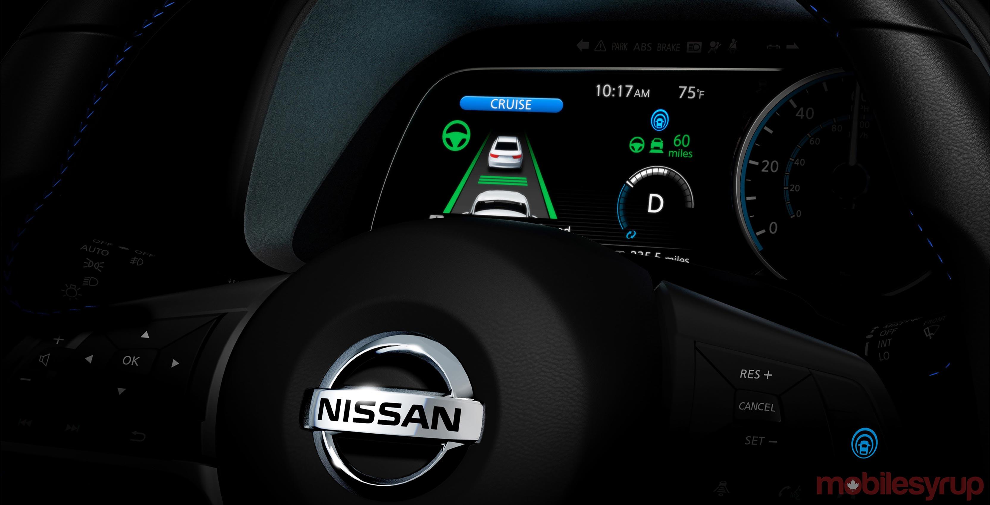 Nissan ProPilot cluster dark