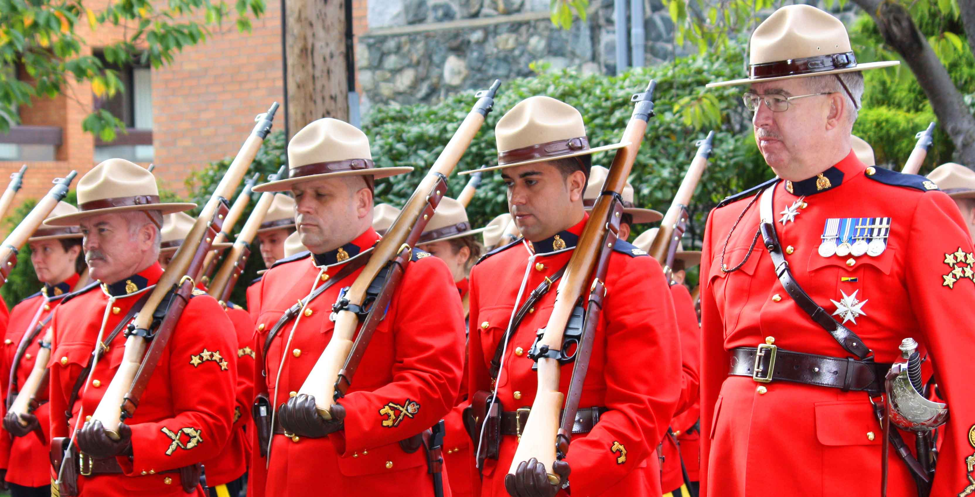 An image of uniformed RCMP officers