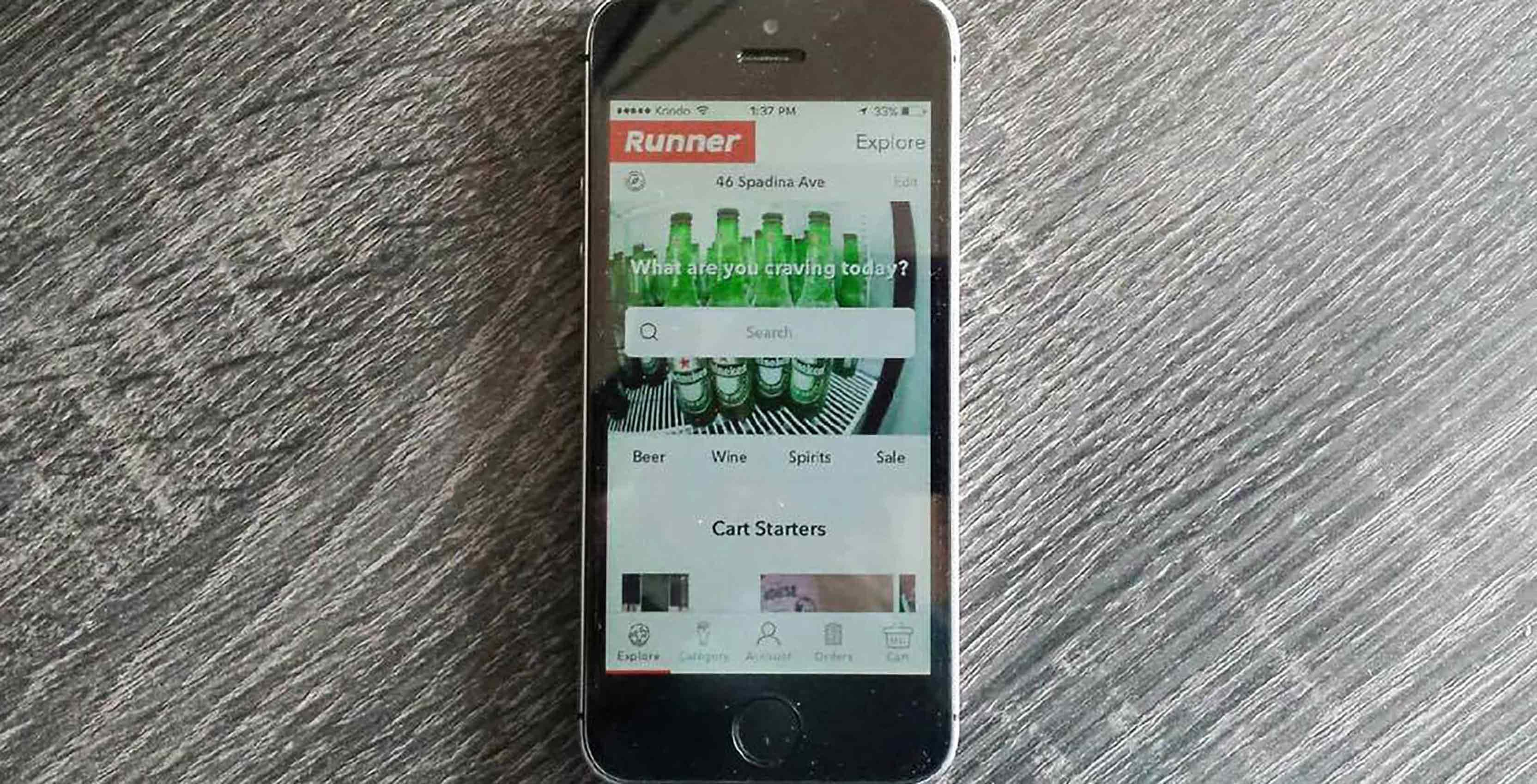 Runner app on iPhone SE