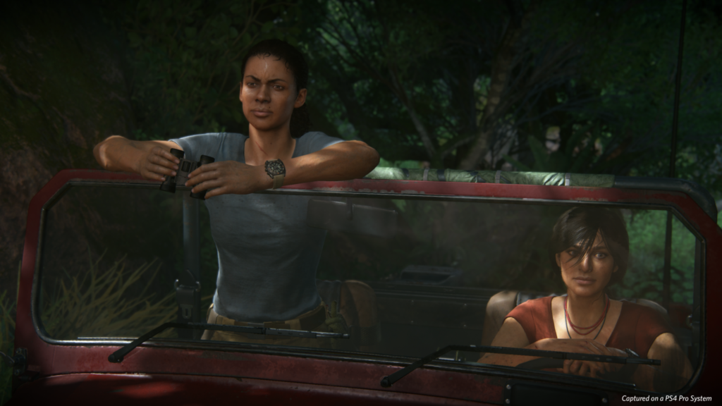 Uncharted The Lost Legacy Chloe and Nadine in car