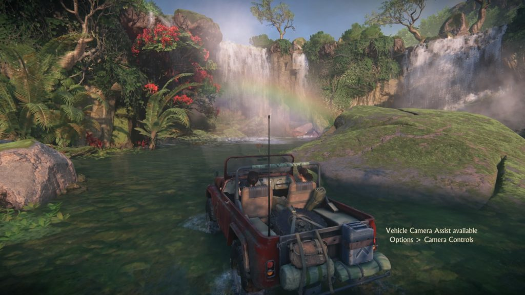 Uncharted The Lost Legacy jeep rainbow