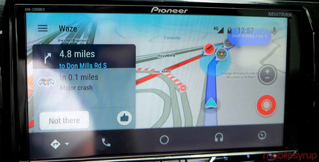 waze in android auto review a better way to avoid traffic. Black Bedroom Furniture Sets. Home Design Ideas