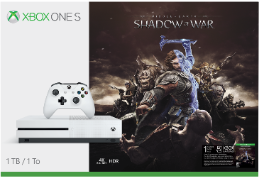 Xbox One S Shadow of War bundles