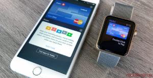 Apple Pay en el teléfono y el reloj