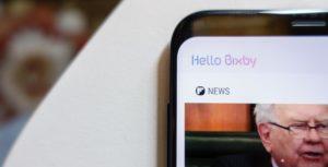 The Bixby homescreen
