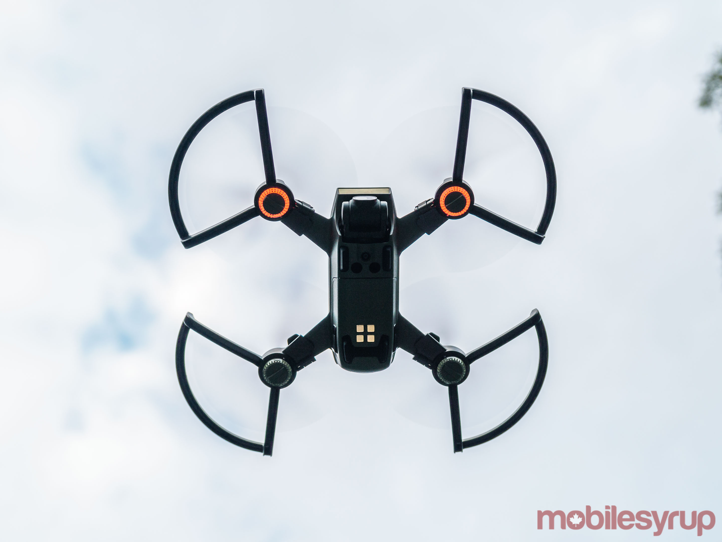DJI Spark drone seen from below