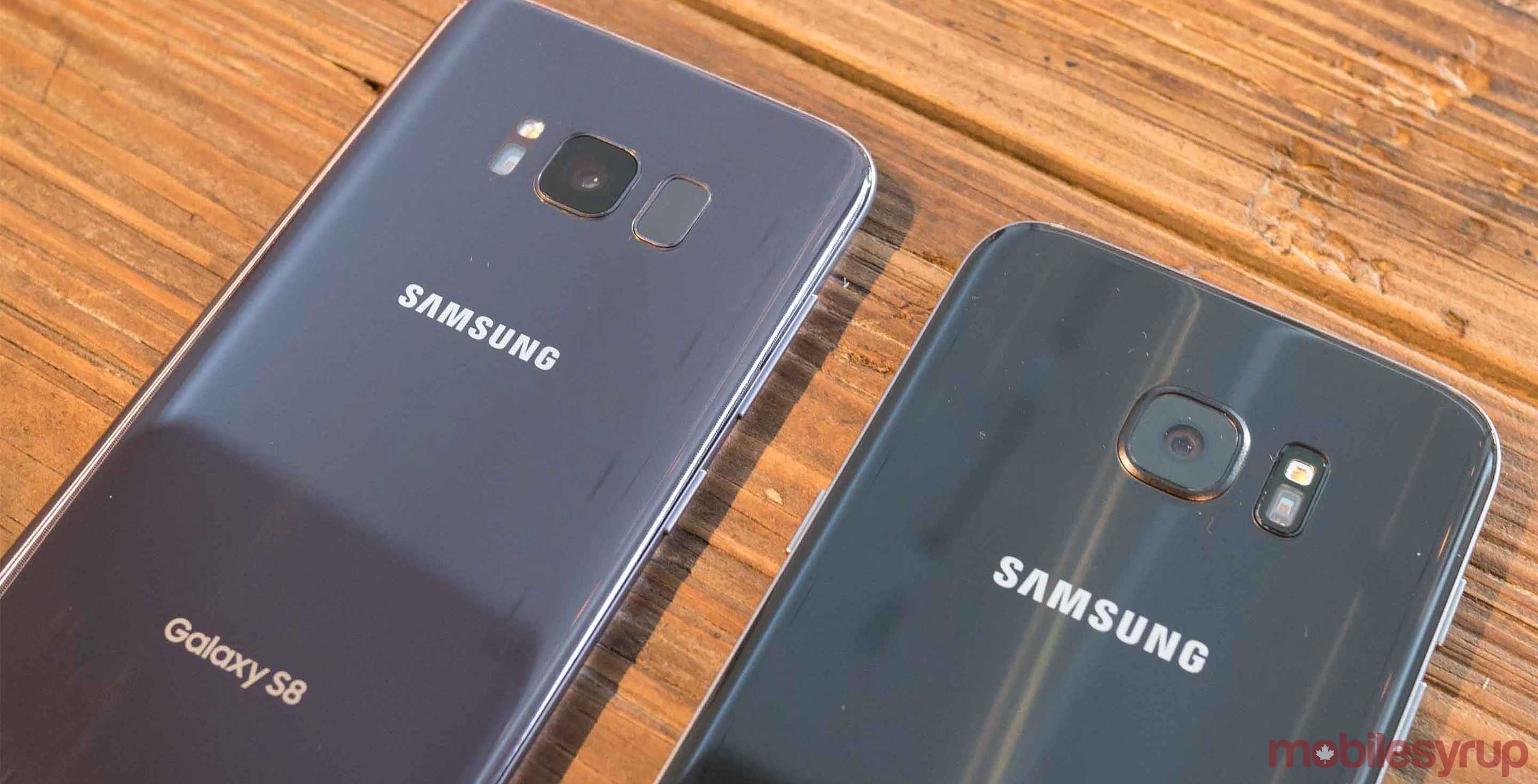 Comparison of Galaxy S8 and S7