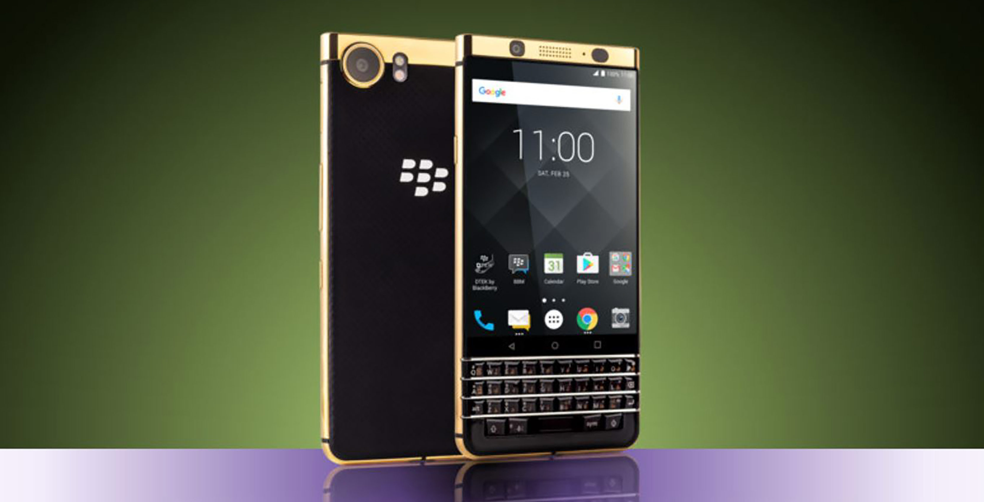 Gold plated blackberry KEYone