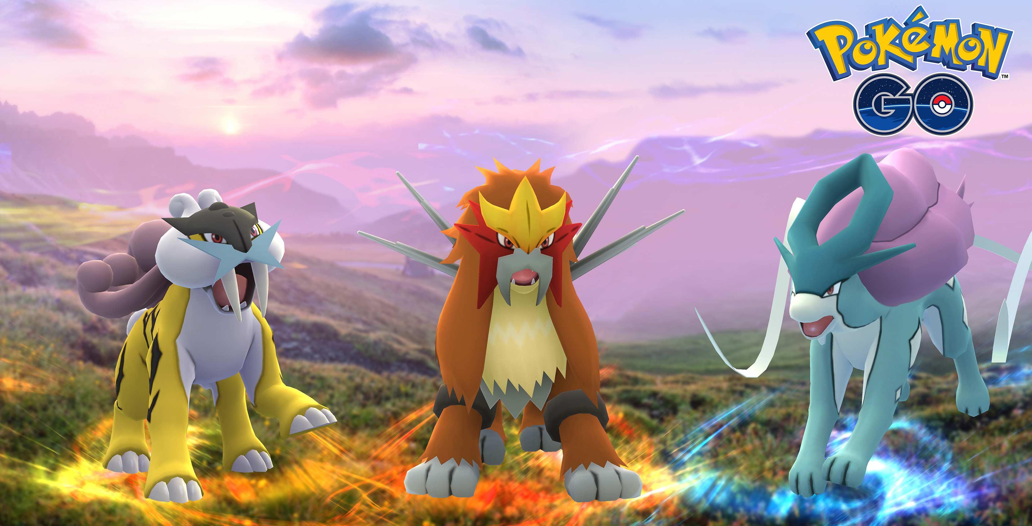 Pokemon Legendary, Entei, Raikou and Suicune