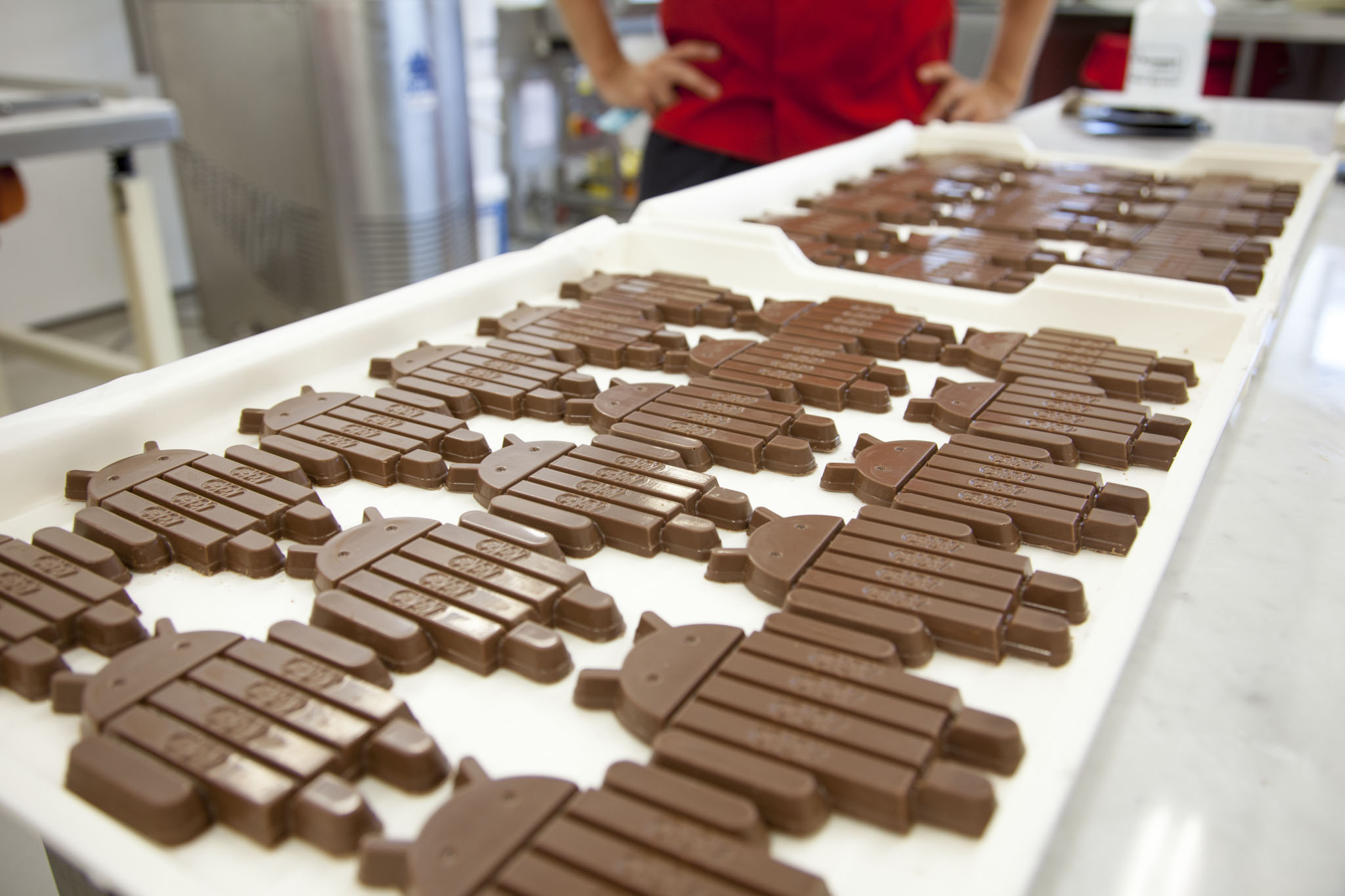 Android KitKat chocolate bars