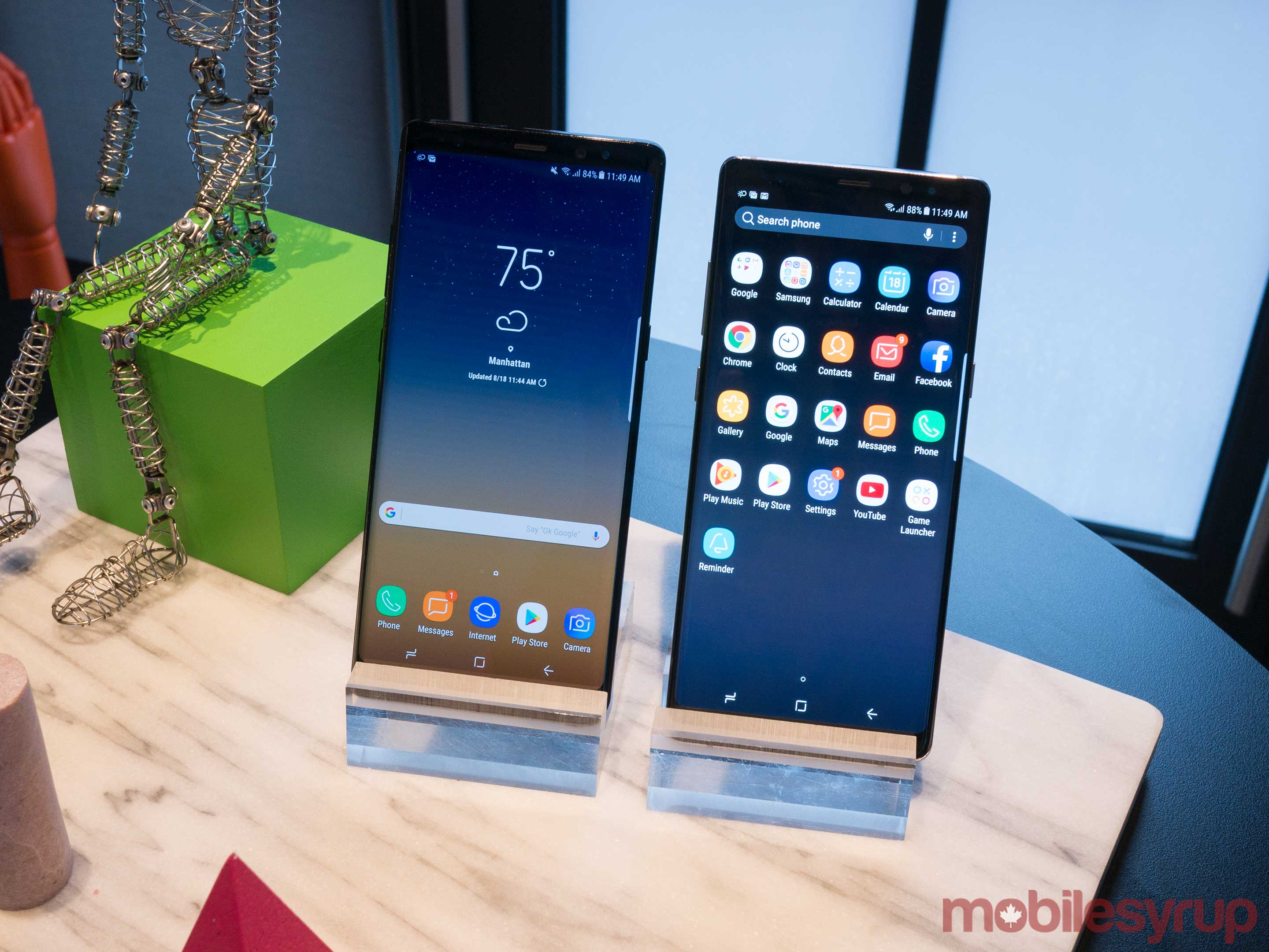 Note 8 side-by-side