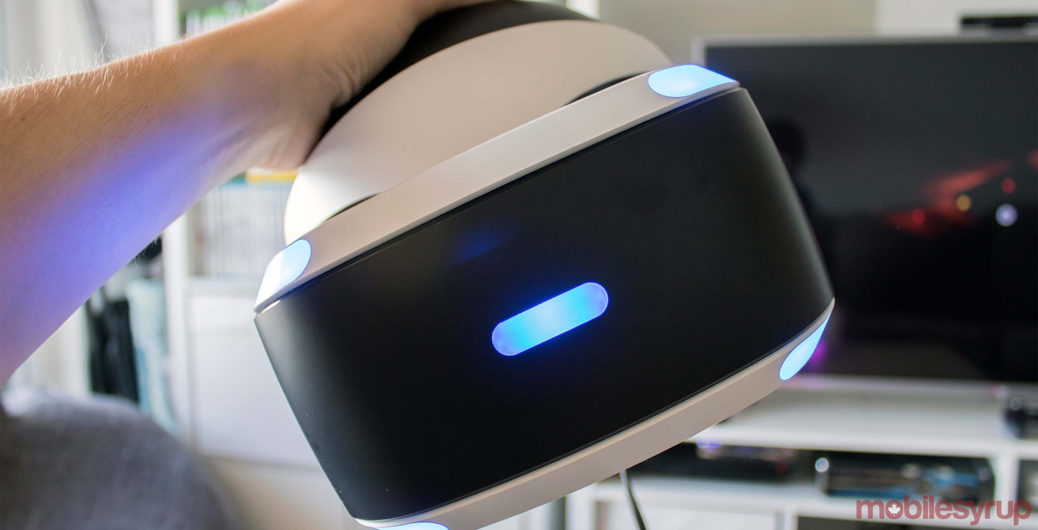 PlayStation VR in hand